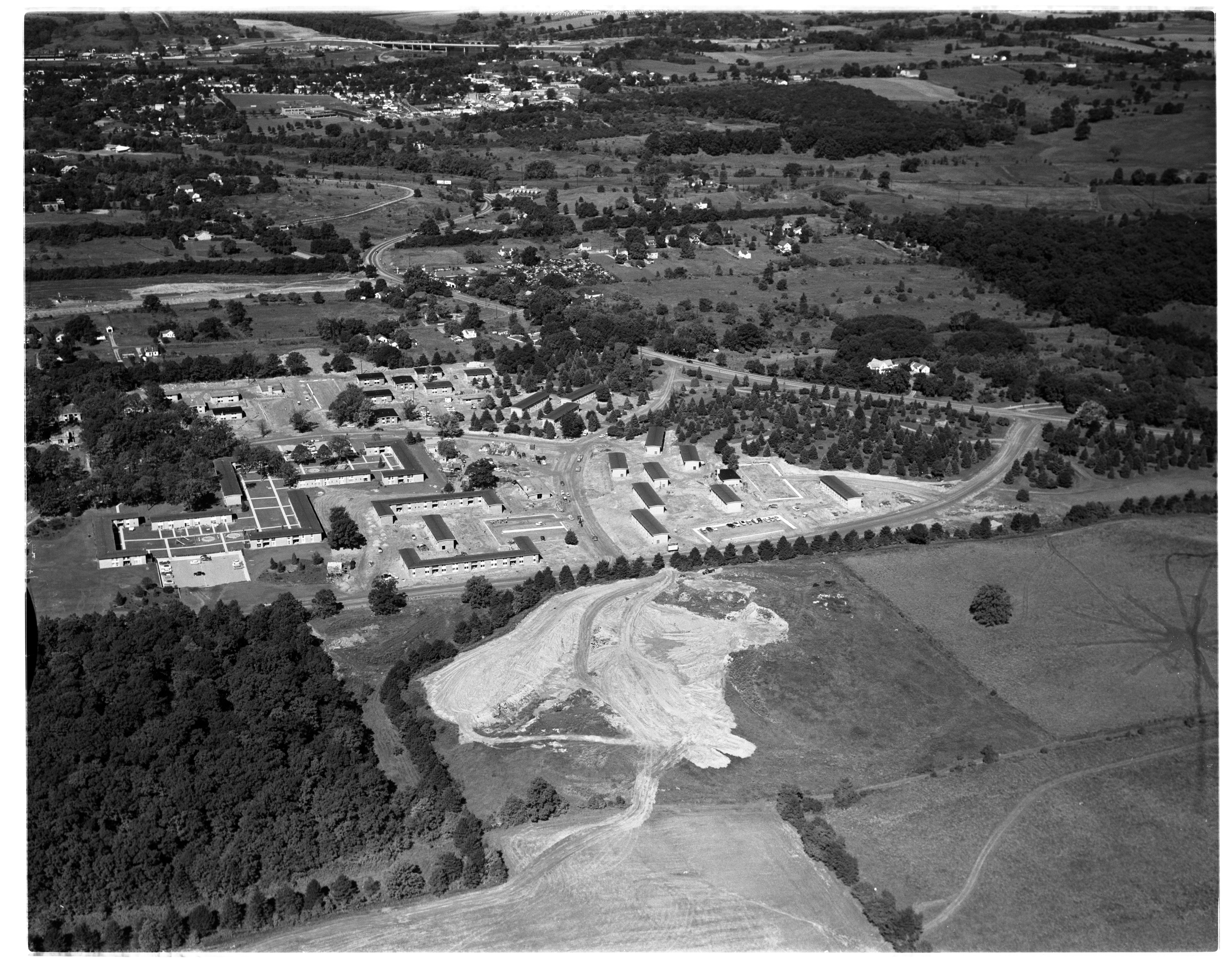 Aerial Photograph of the North Campus Apartments, August 1956 image