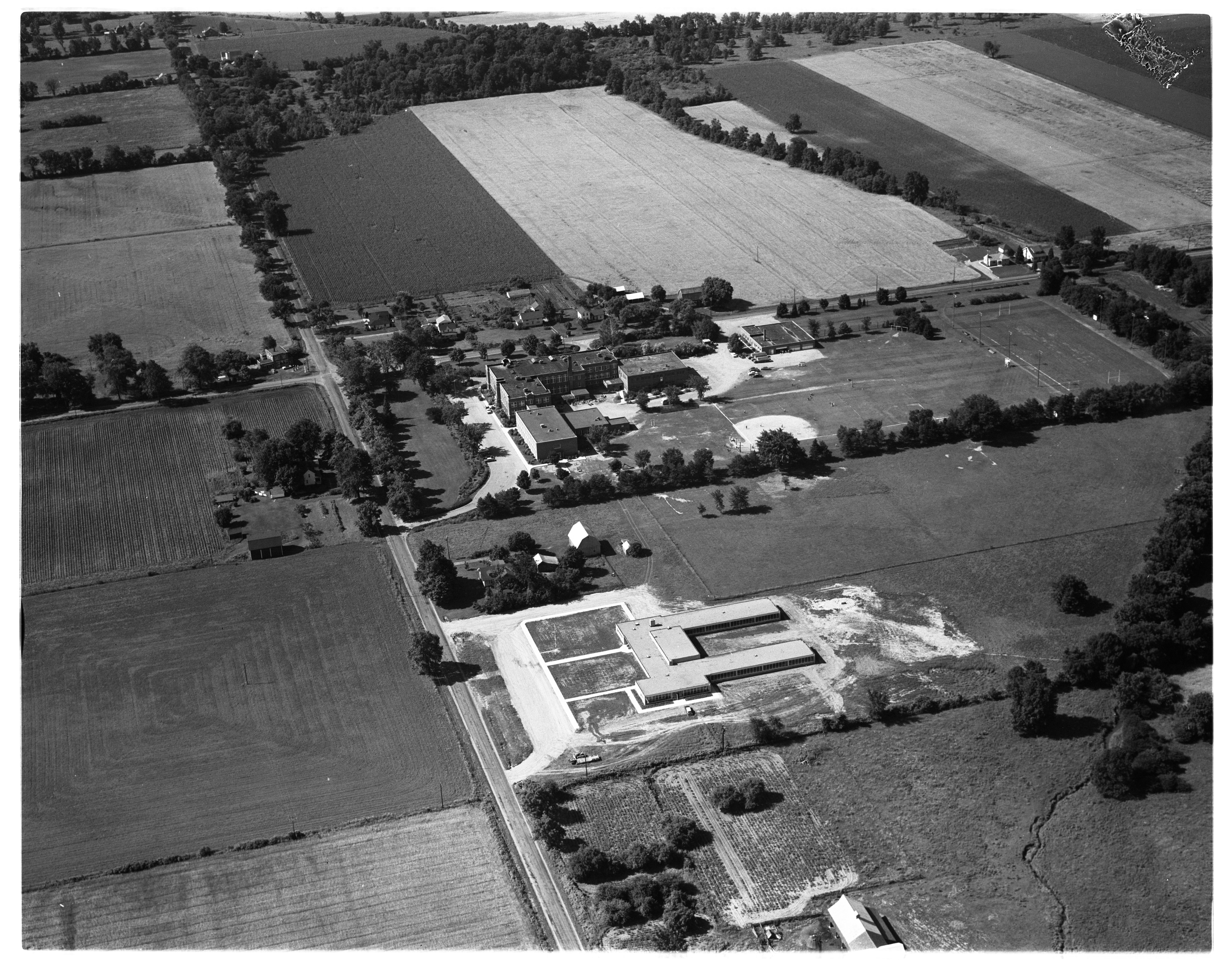 Aerial Photograph of the Lincoln Consolidated School Campus, August 1956 image