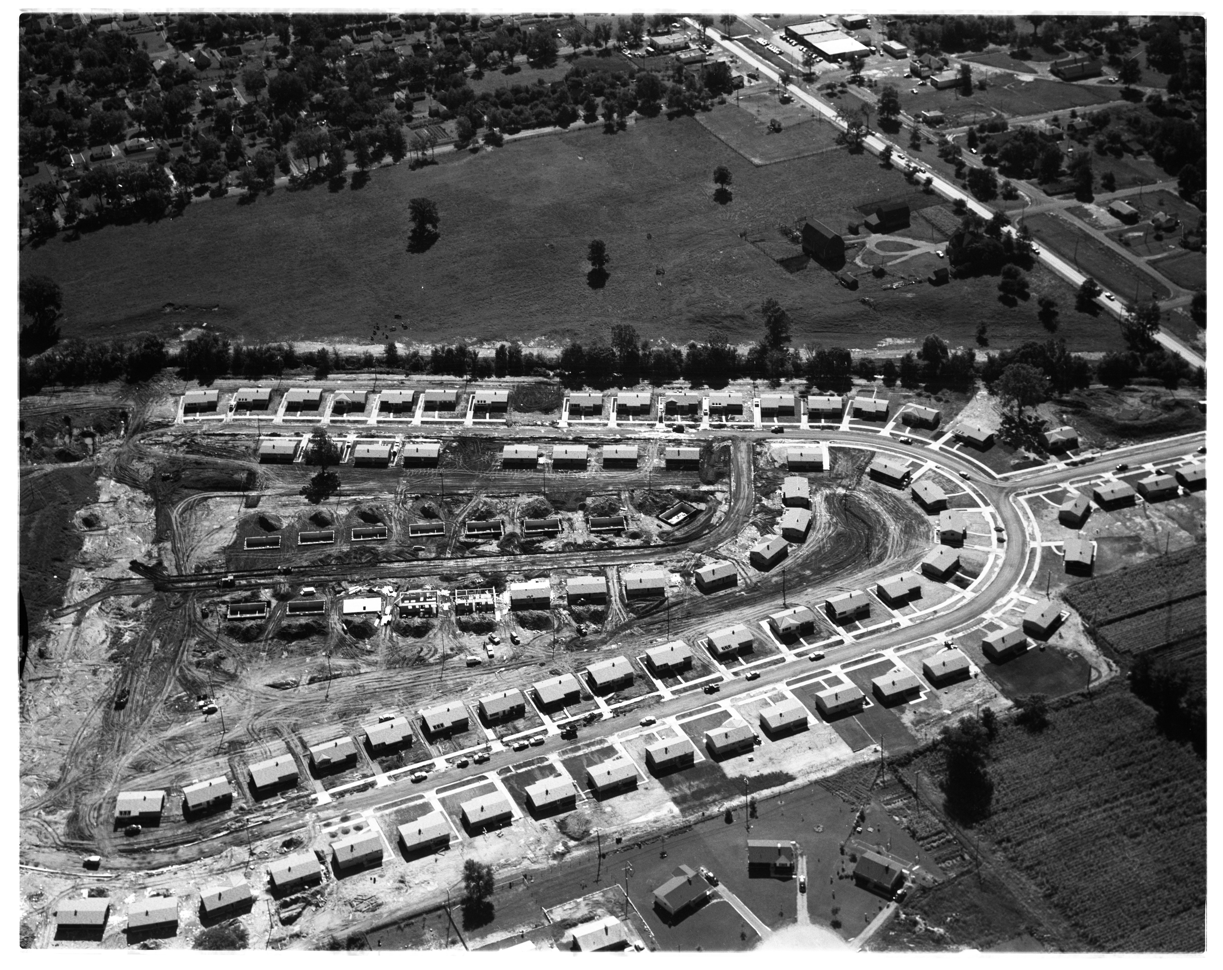 Aerial Photograph of Kensington Farms Subdivision, August 1956 image