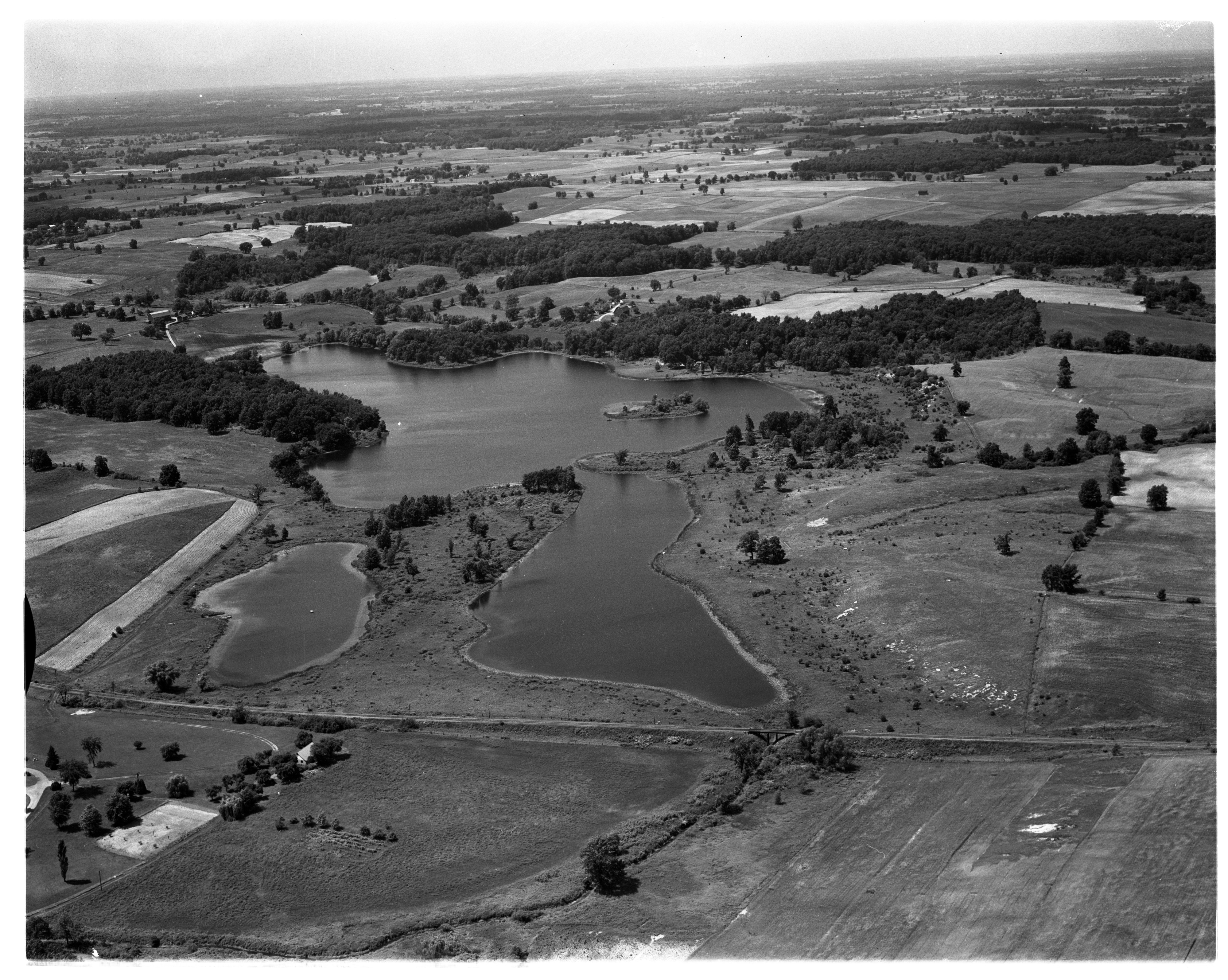 Aerial Photograph of Columbia Lake, Bridgewater Township, August 1956 image