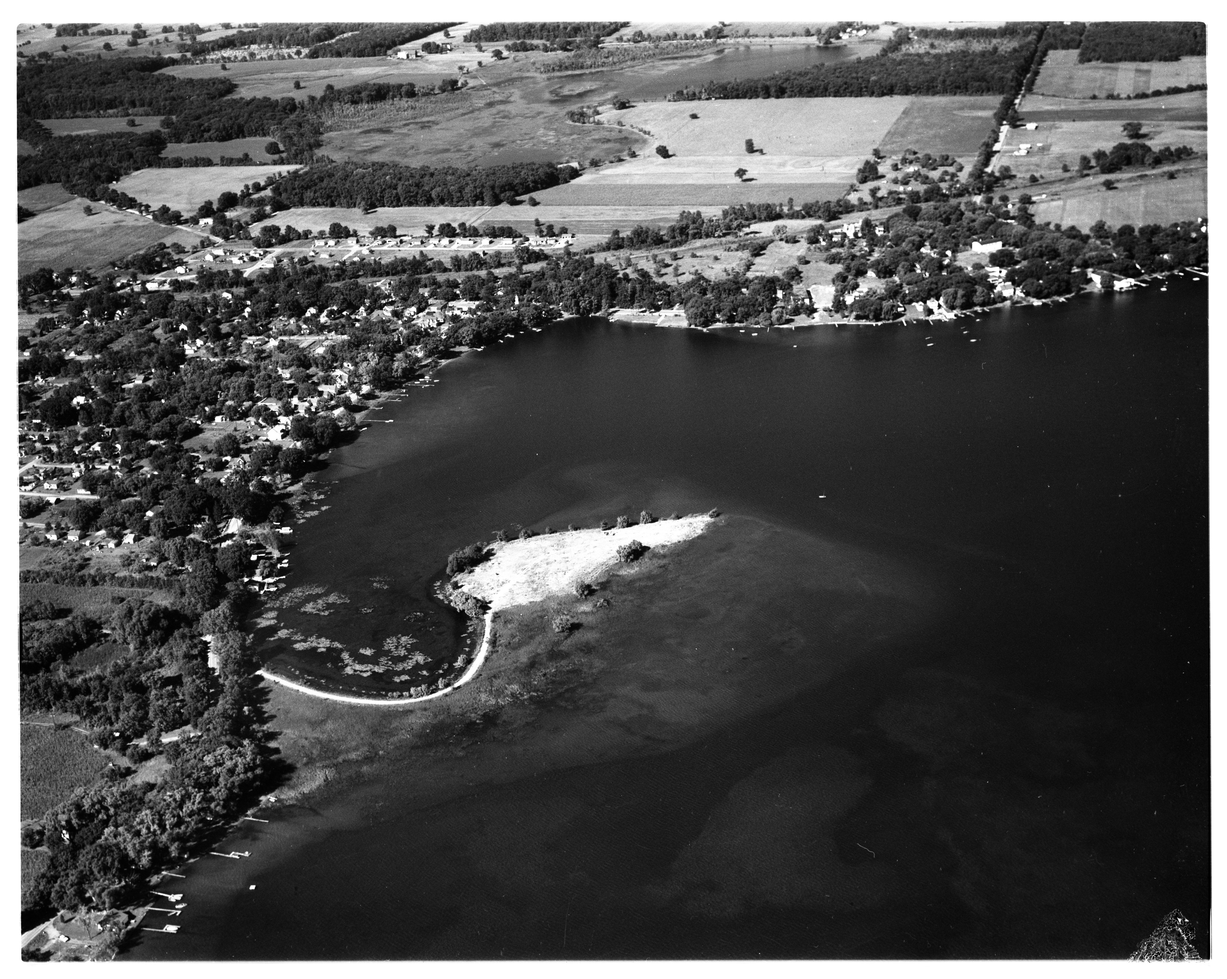 Aerial Photograph of Whitmore Lake, Northfield Township, August 1956 image