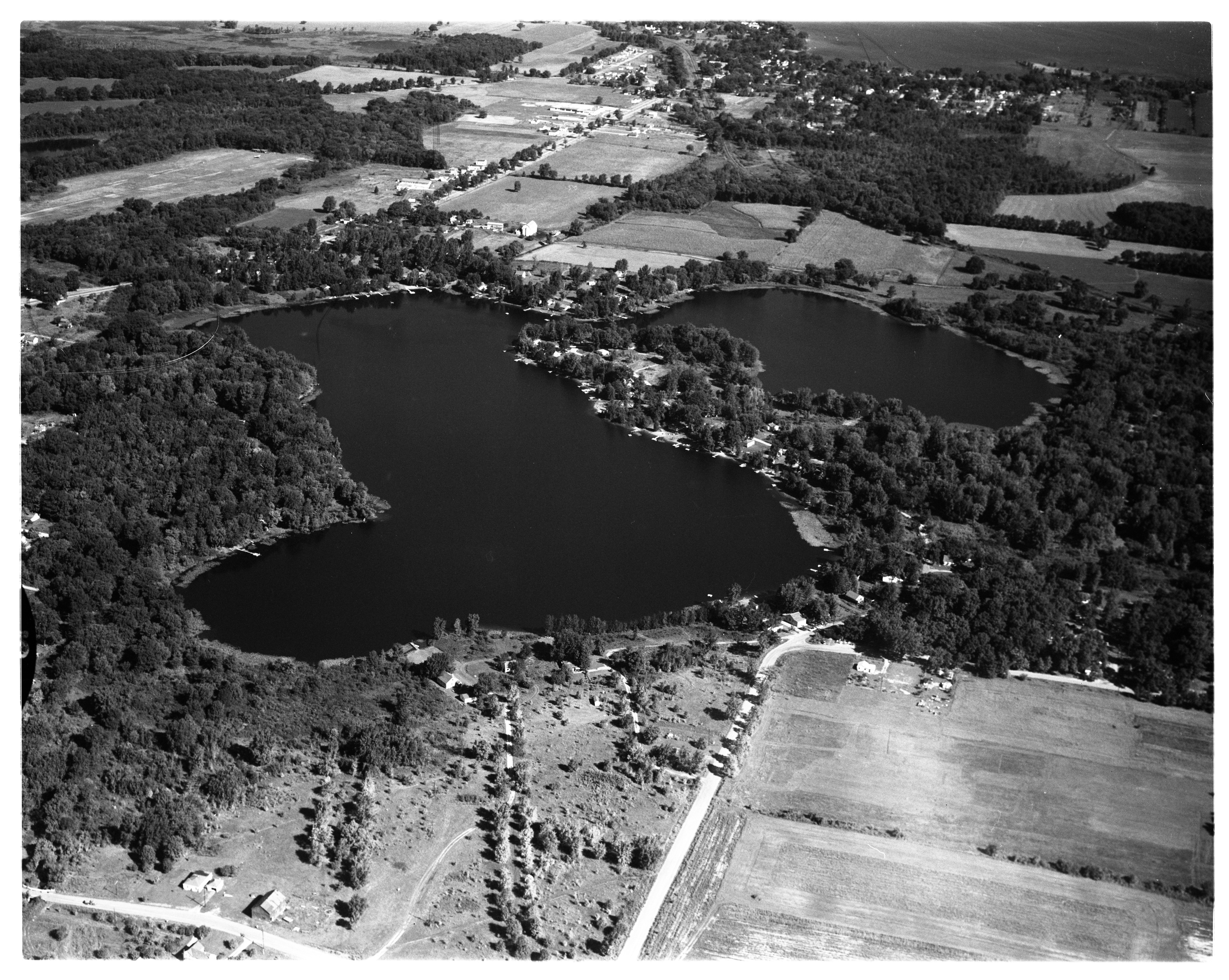 Aerial Photograph of Horseshoe Lake, Northfield Township, August 1956 image