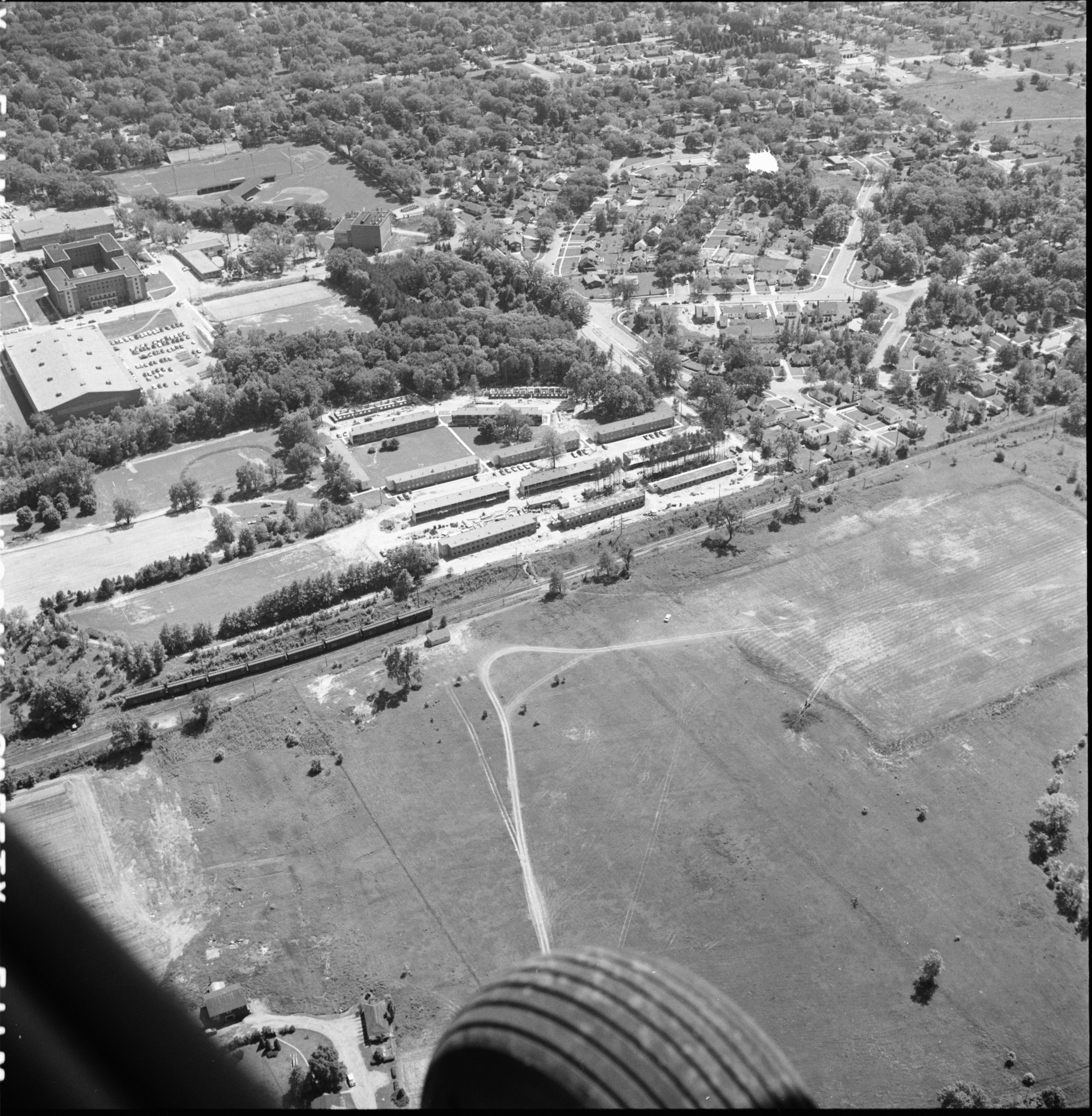 Aerial Photograph of Eastern Michigan College Apartments, June 1957 image