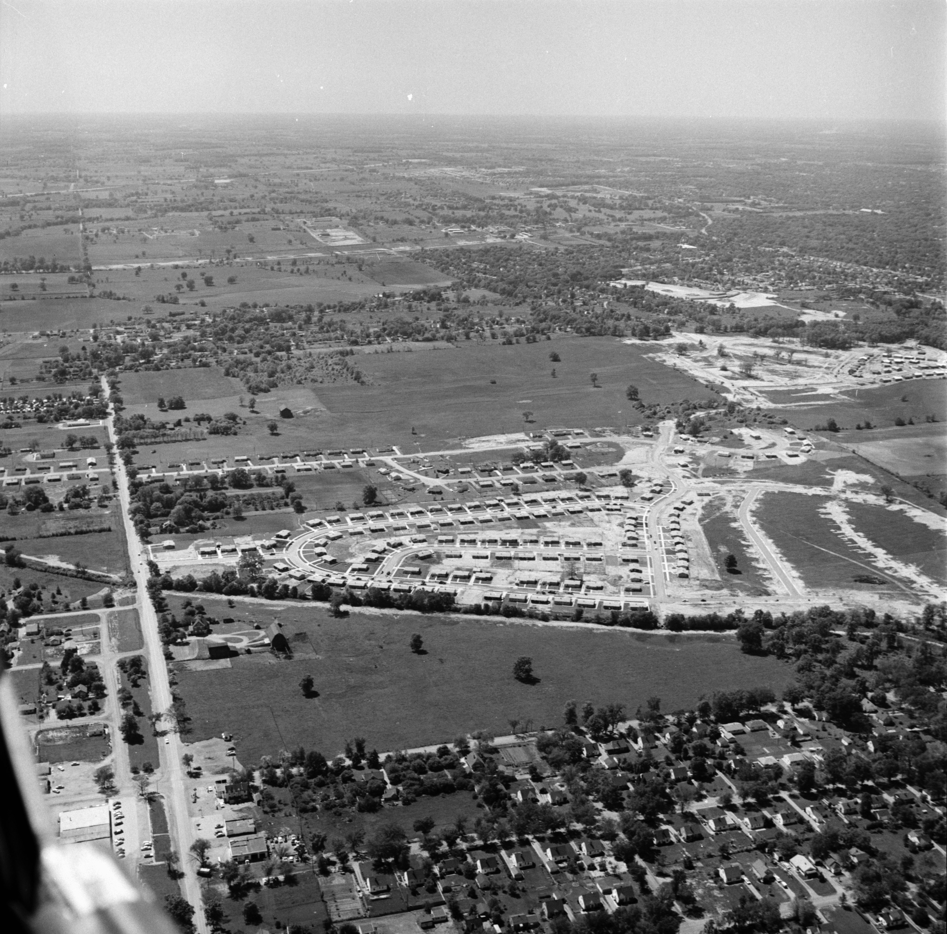 Aerial Photograph of Kensington Farms Subdivision, July 1957 image
