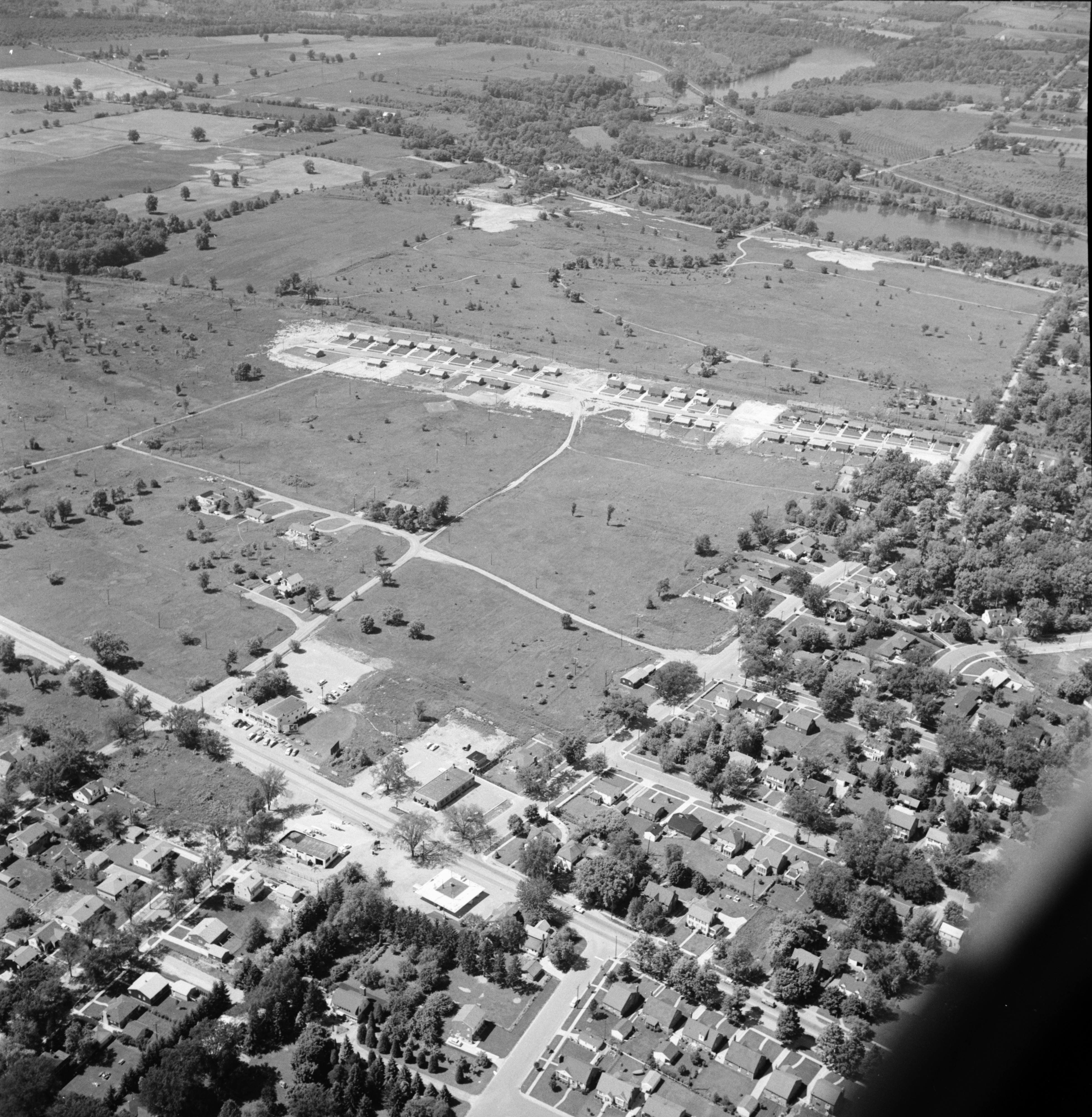 Aerial Photograph of College Heights Subdivision, Ypsilanti, July 1957 image