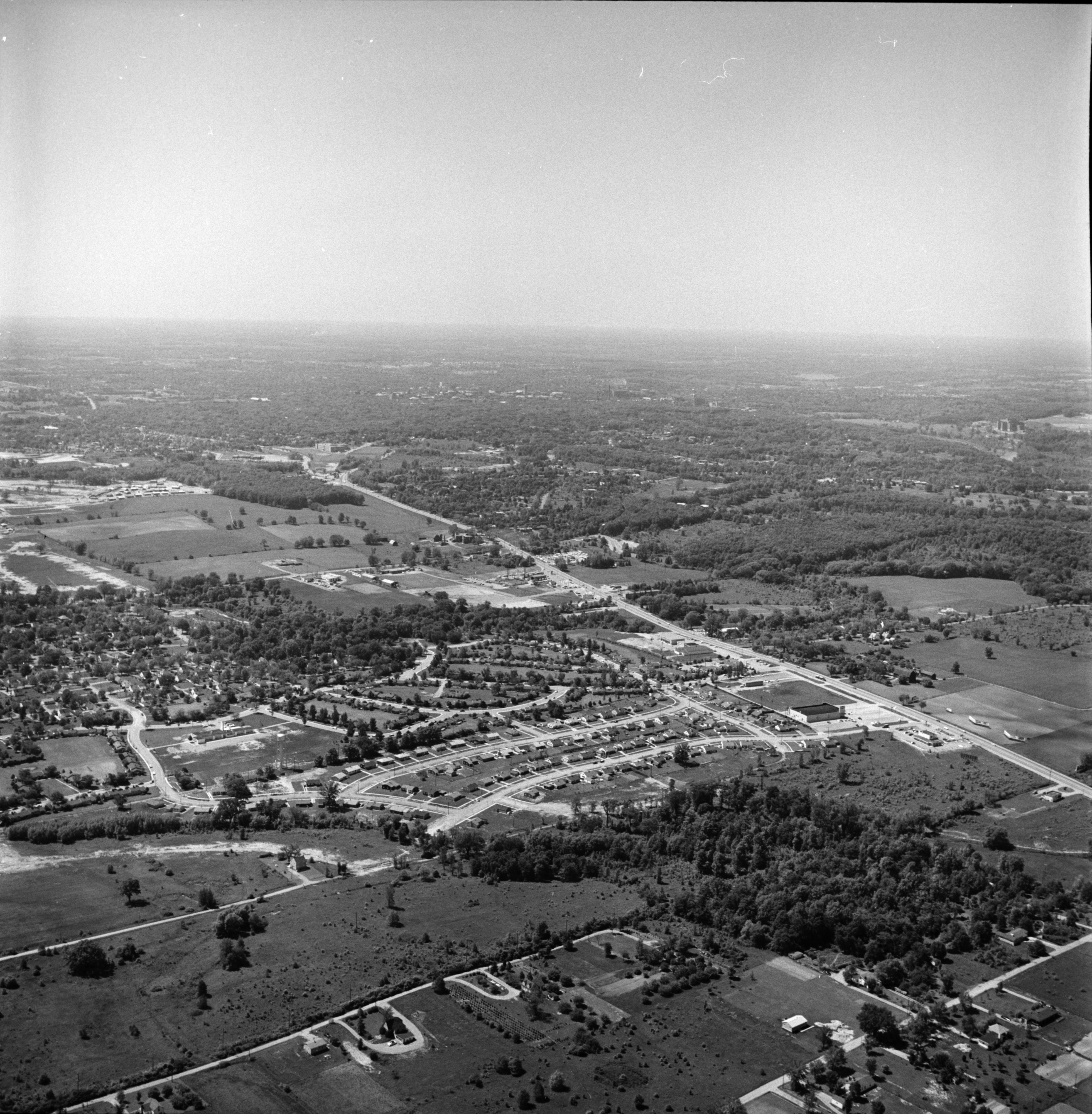 Aerial Photograph of Washtenaw Ave near Pittsfield Park Subdivision, July 1957 image