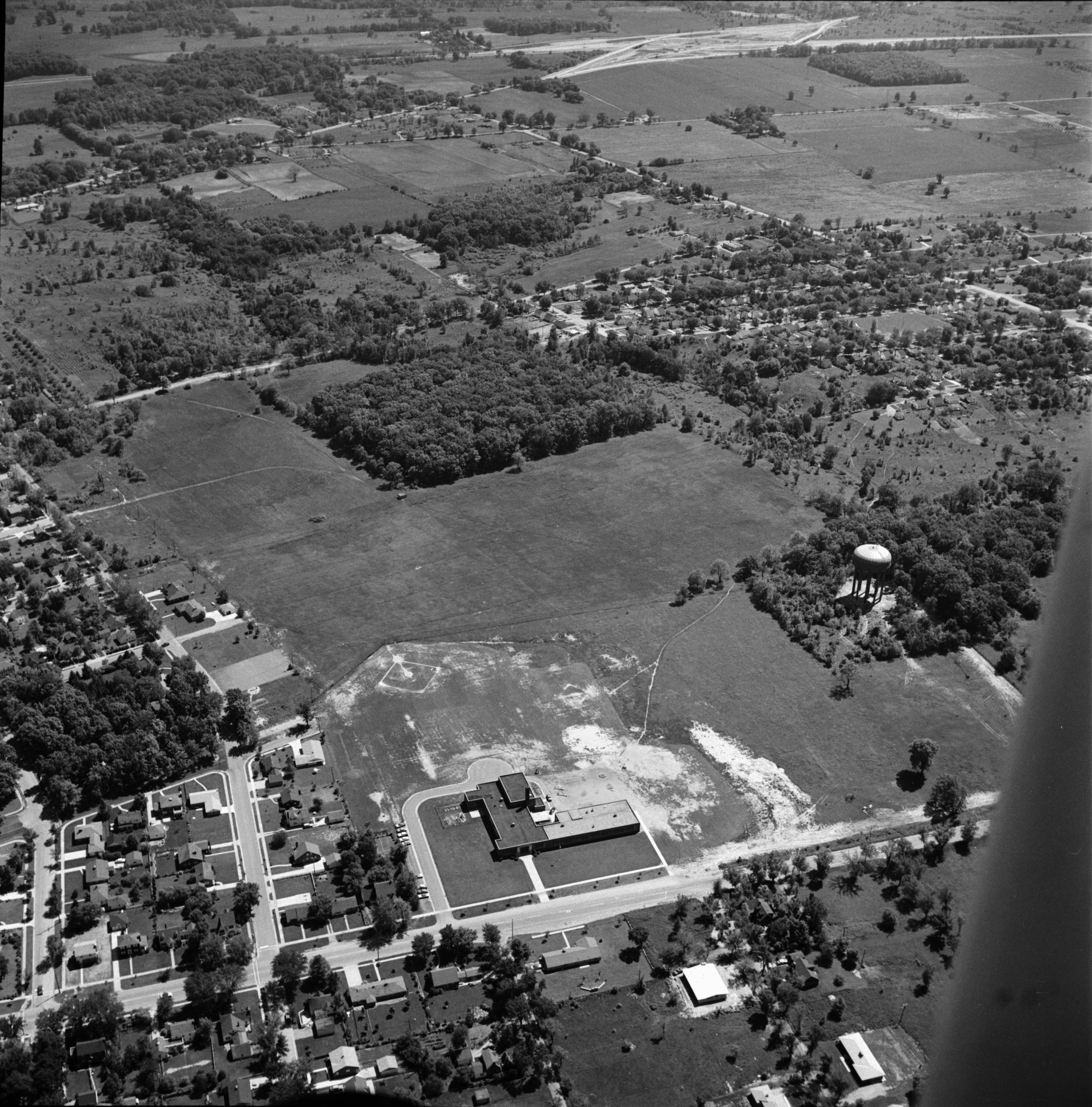 Aerial Photograph of Estabrook School Area, Ypsilanti, July 1957 image