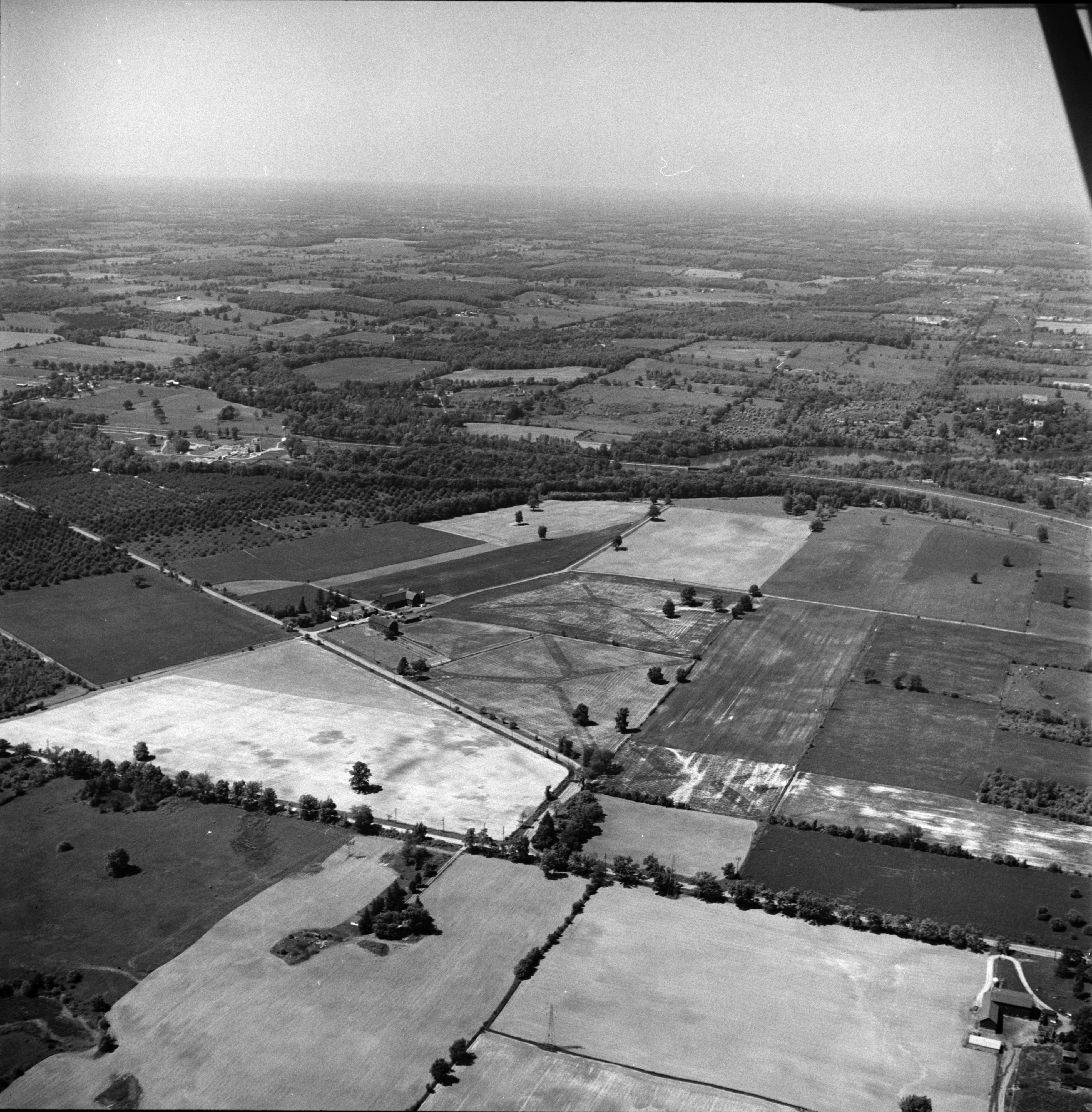 Aerial Photograph of Washtenaw County Farm Land, June 1957 image