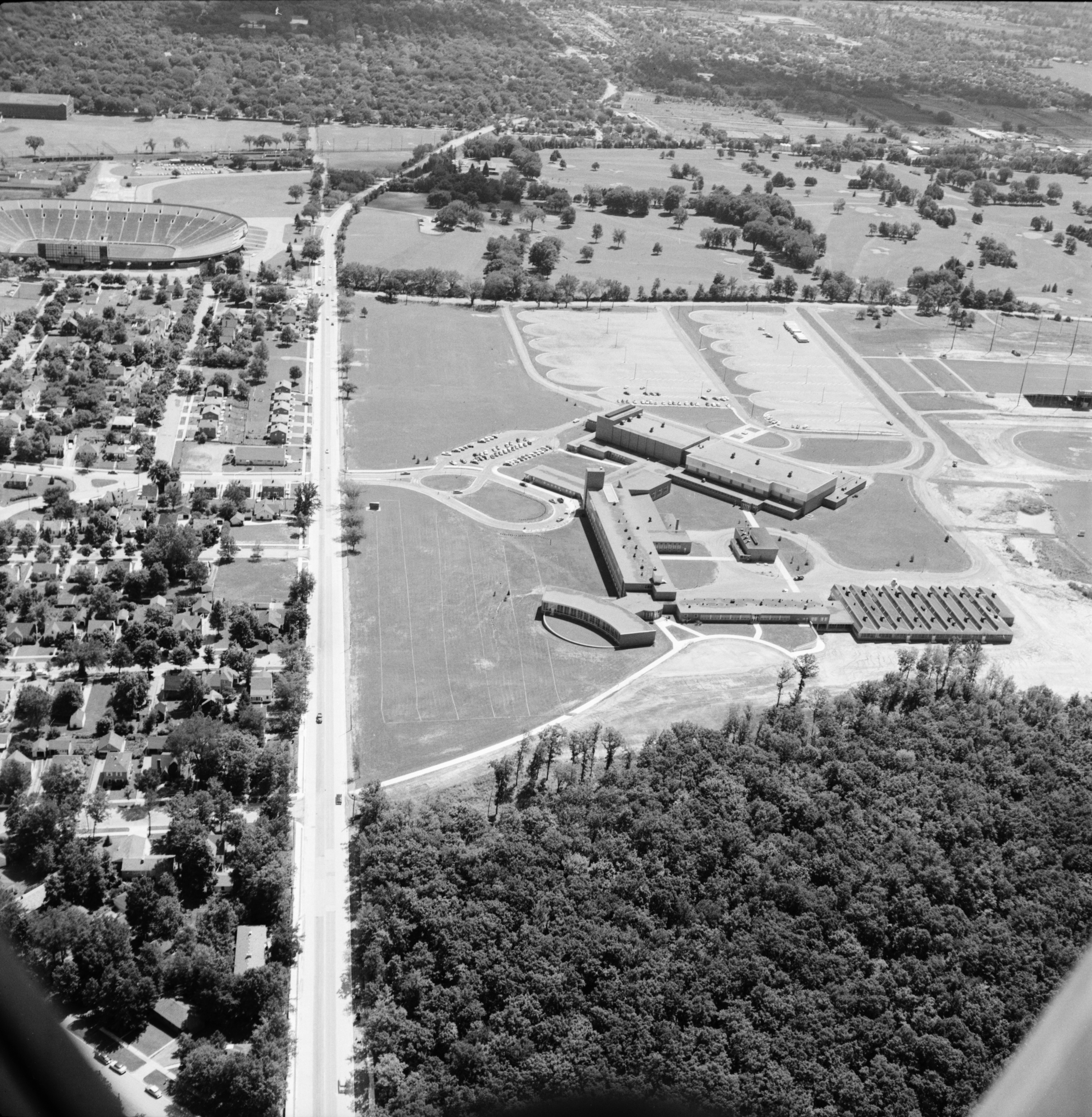 Aerial Photograph of the Widening of W. Stadium Blvd., July 1957 image