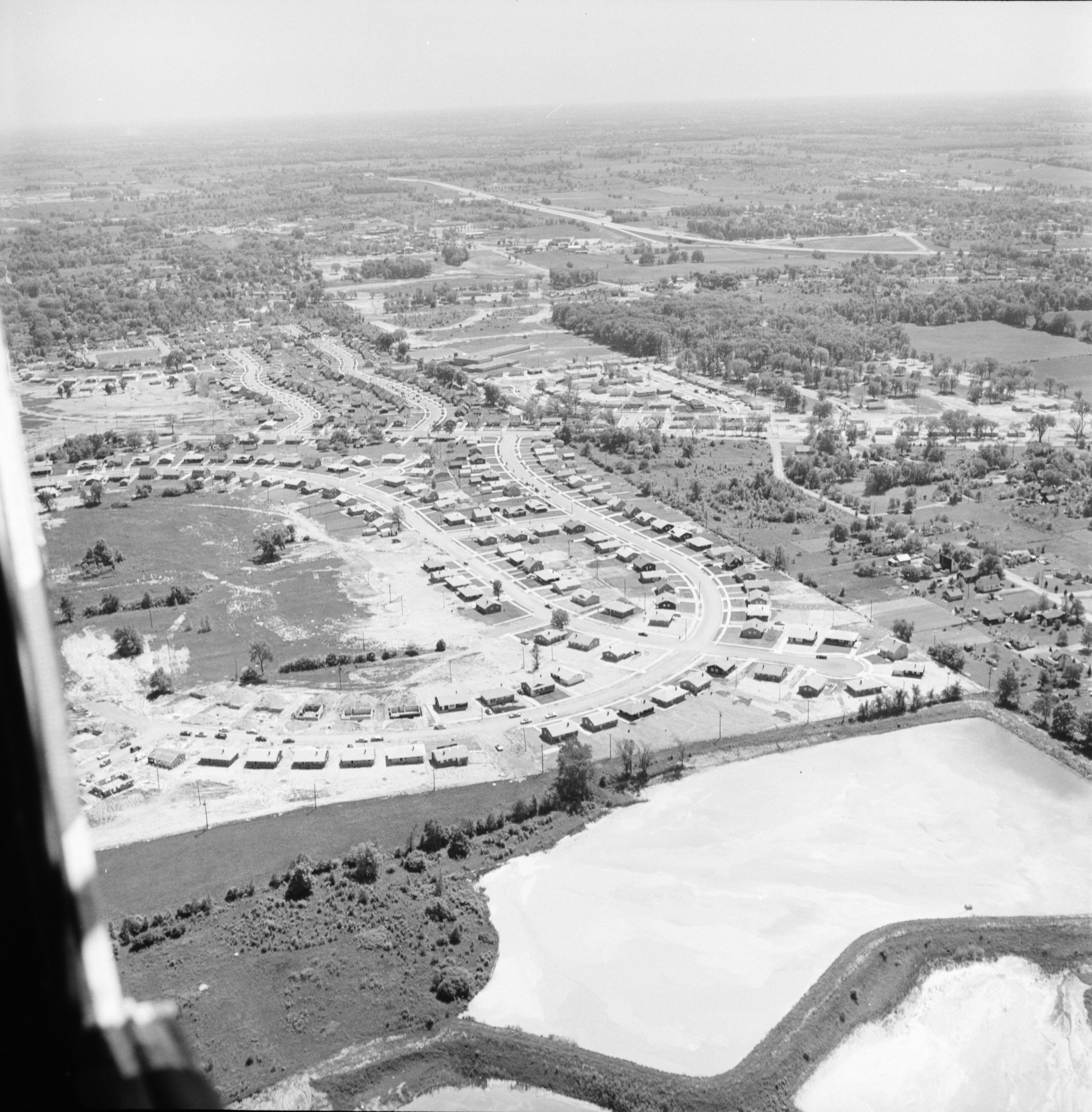Aerial Photograph of Arbor Heights Subdivision, July 1957 image