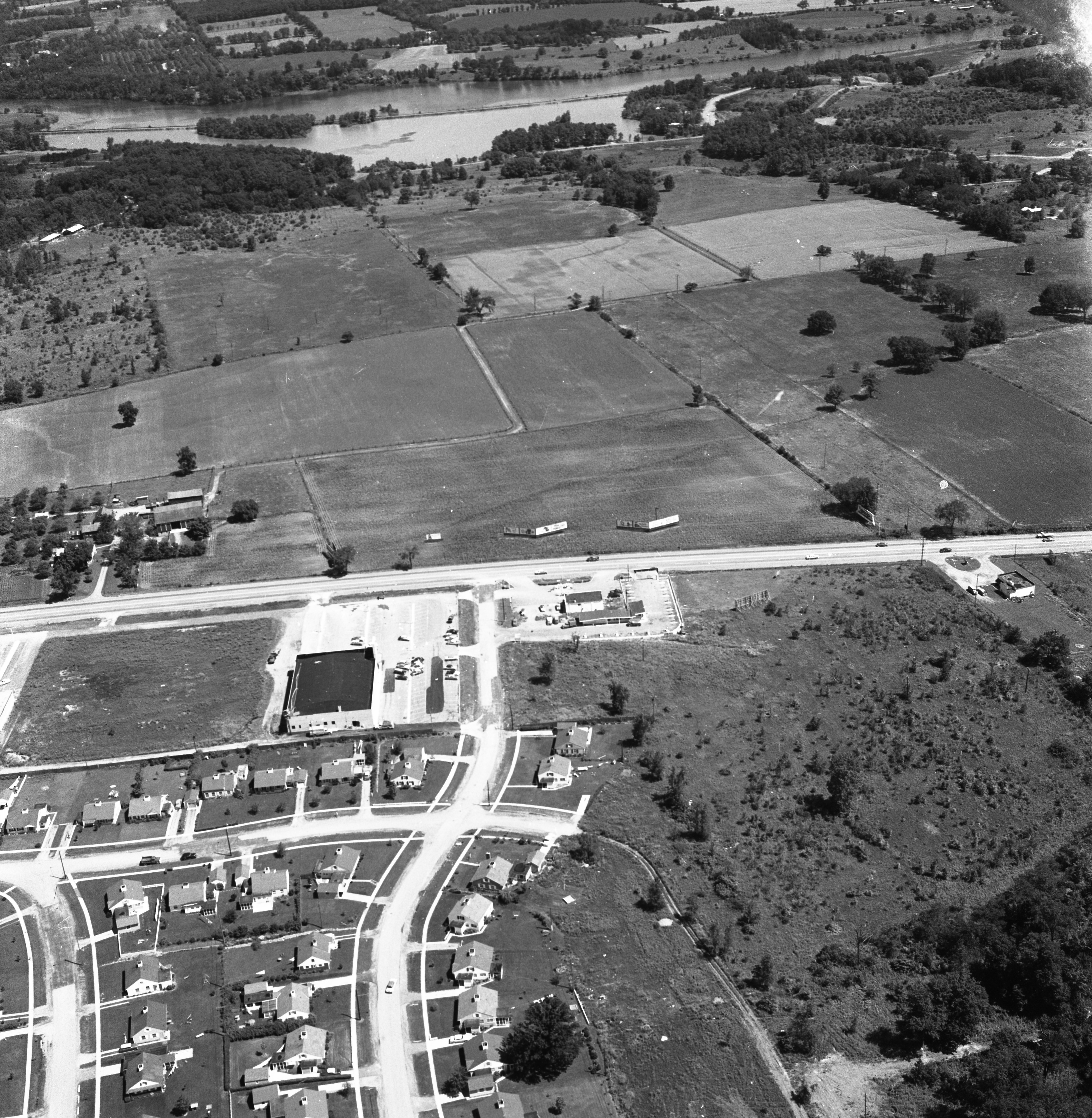 Aerial of Proposed Arborland Shopping Center Site, August 1957 image