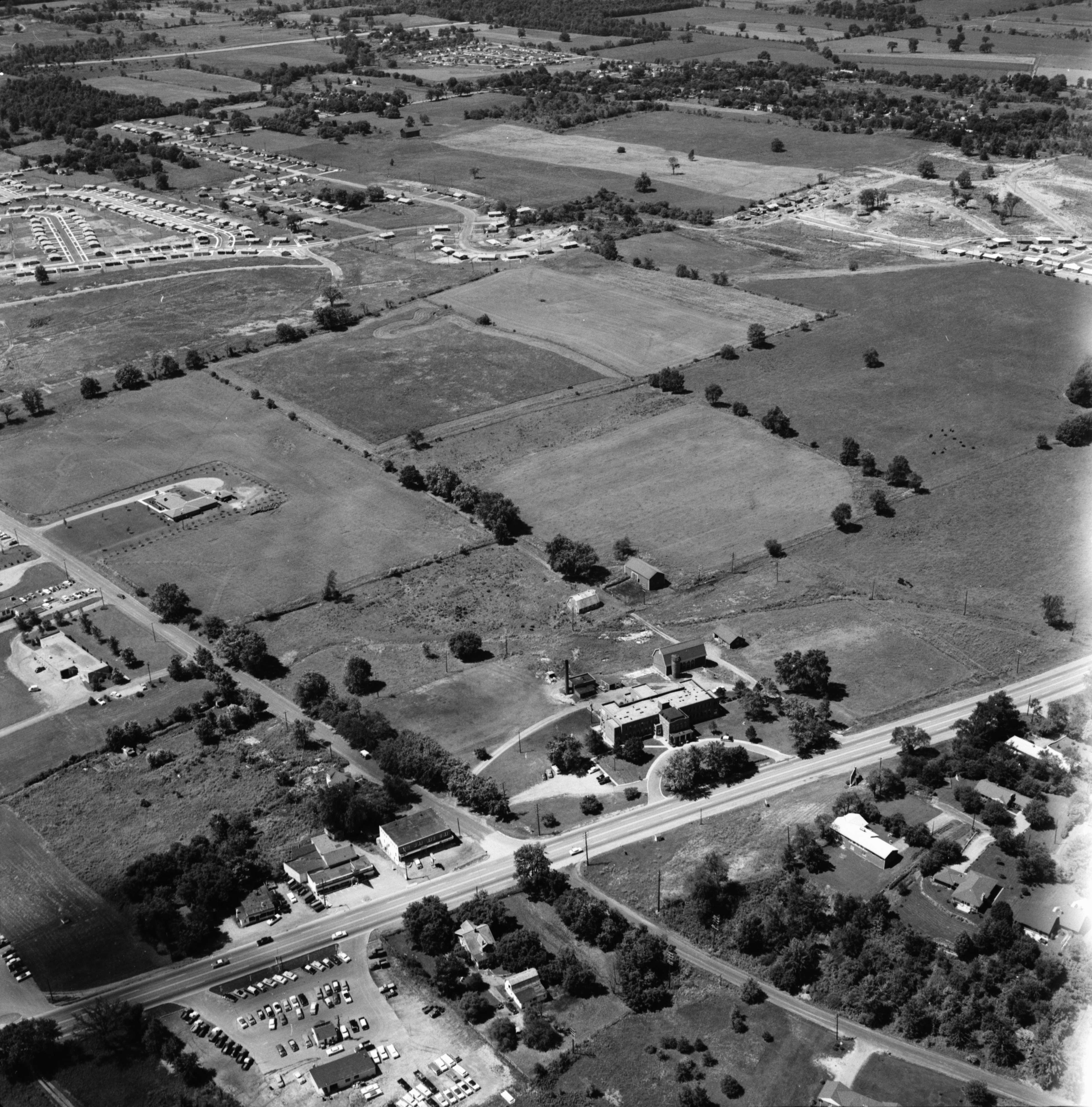 Aerial Photograph of Washtenaw County Infirmary, August 1957 image