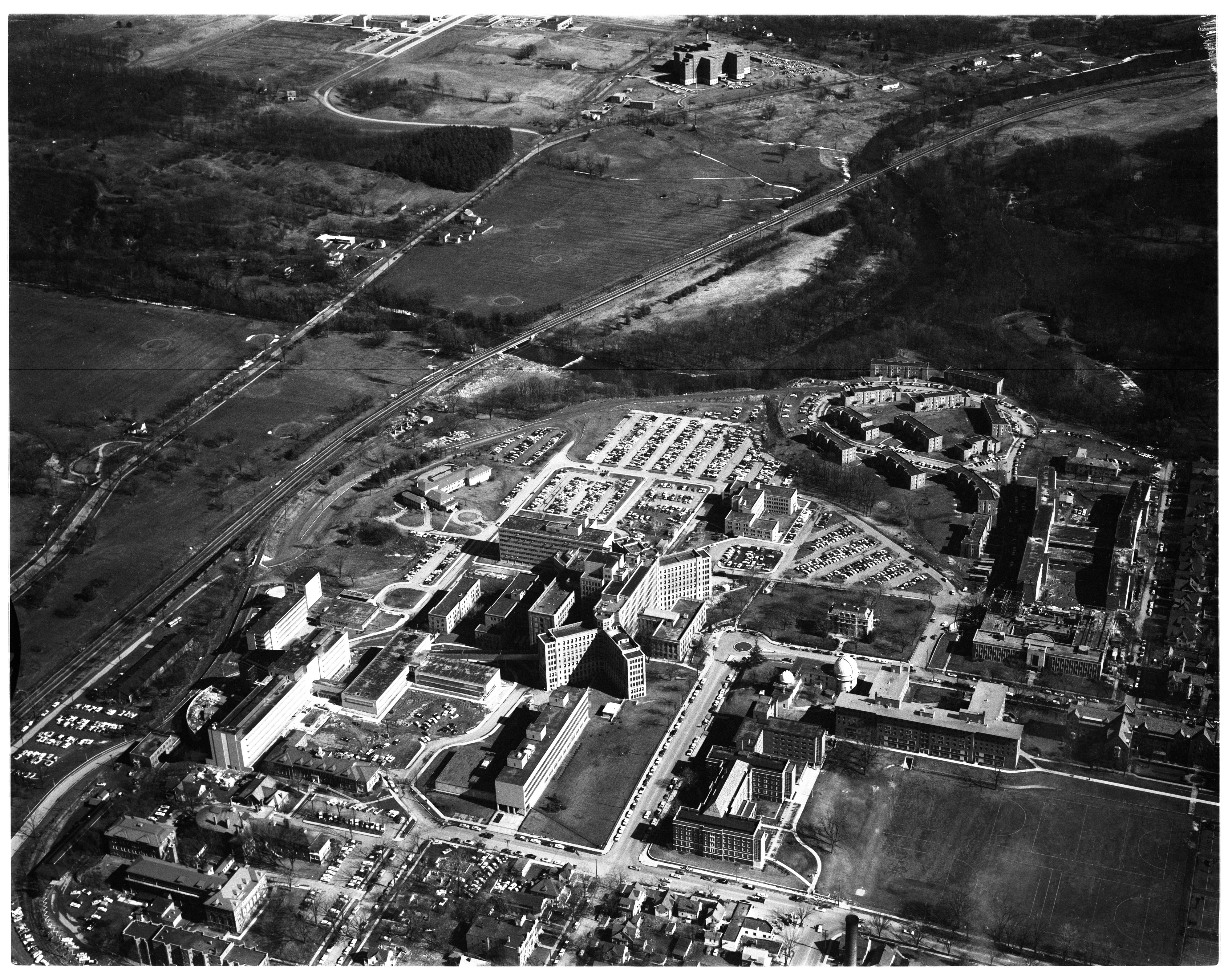 Aerial Photograph of University Hospital Area, February 1958 image