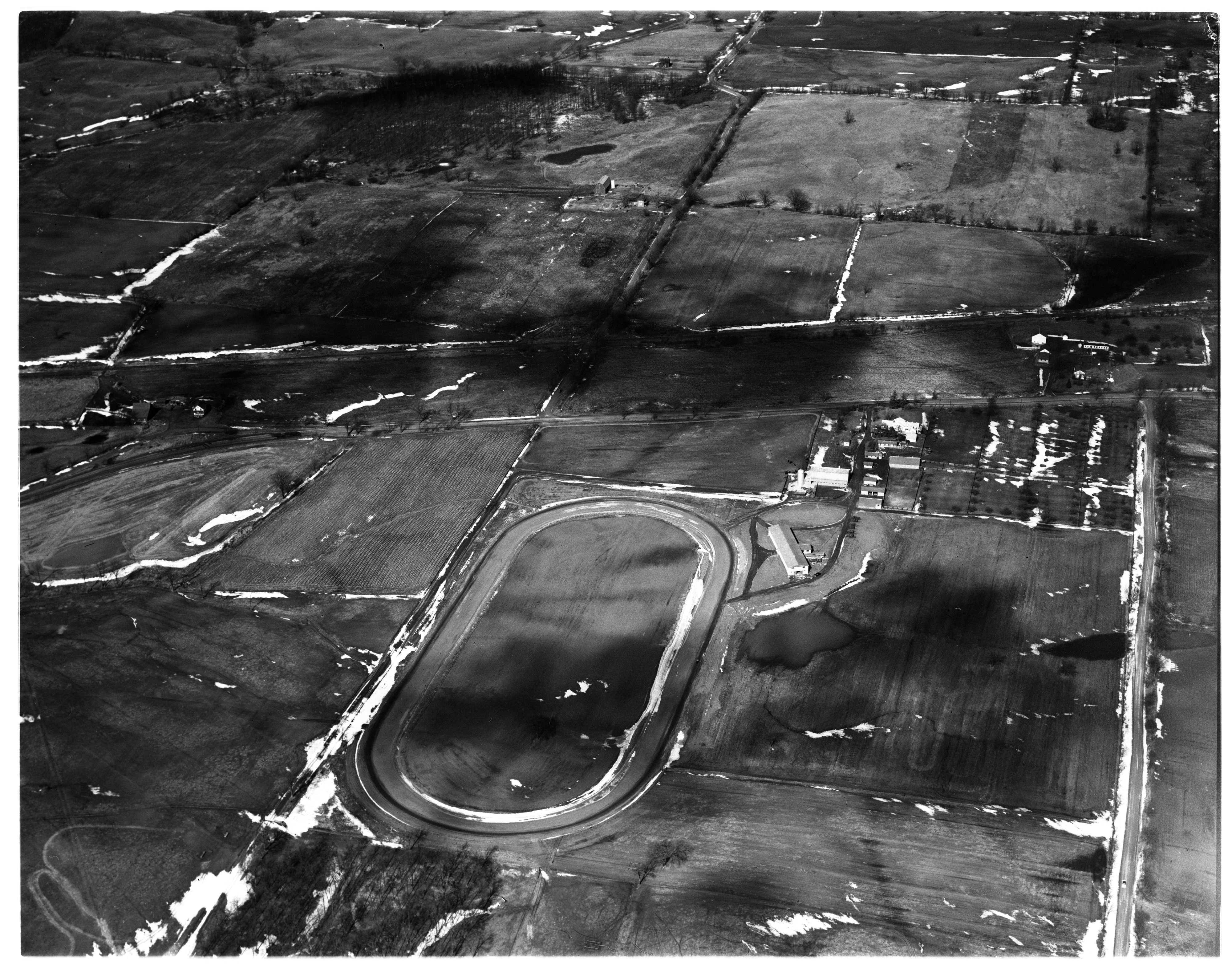 Aerial Photograph of Brennan Race Track near Bridgewater, February 1958 image