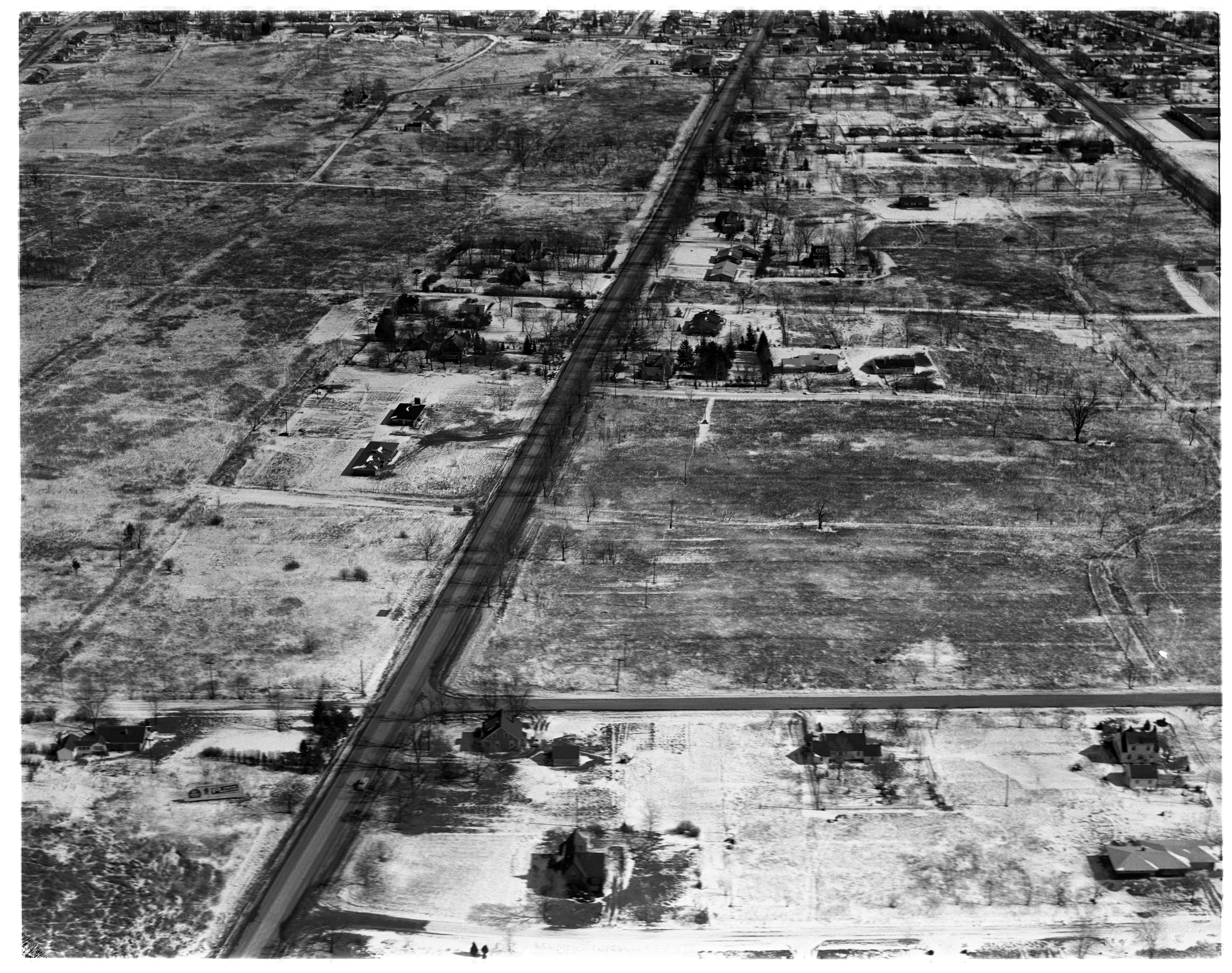 Aerial Photograph of Proposed Shopping Center Site, Ypsilanti Township, March 1958 image