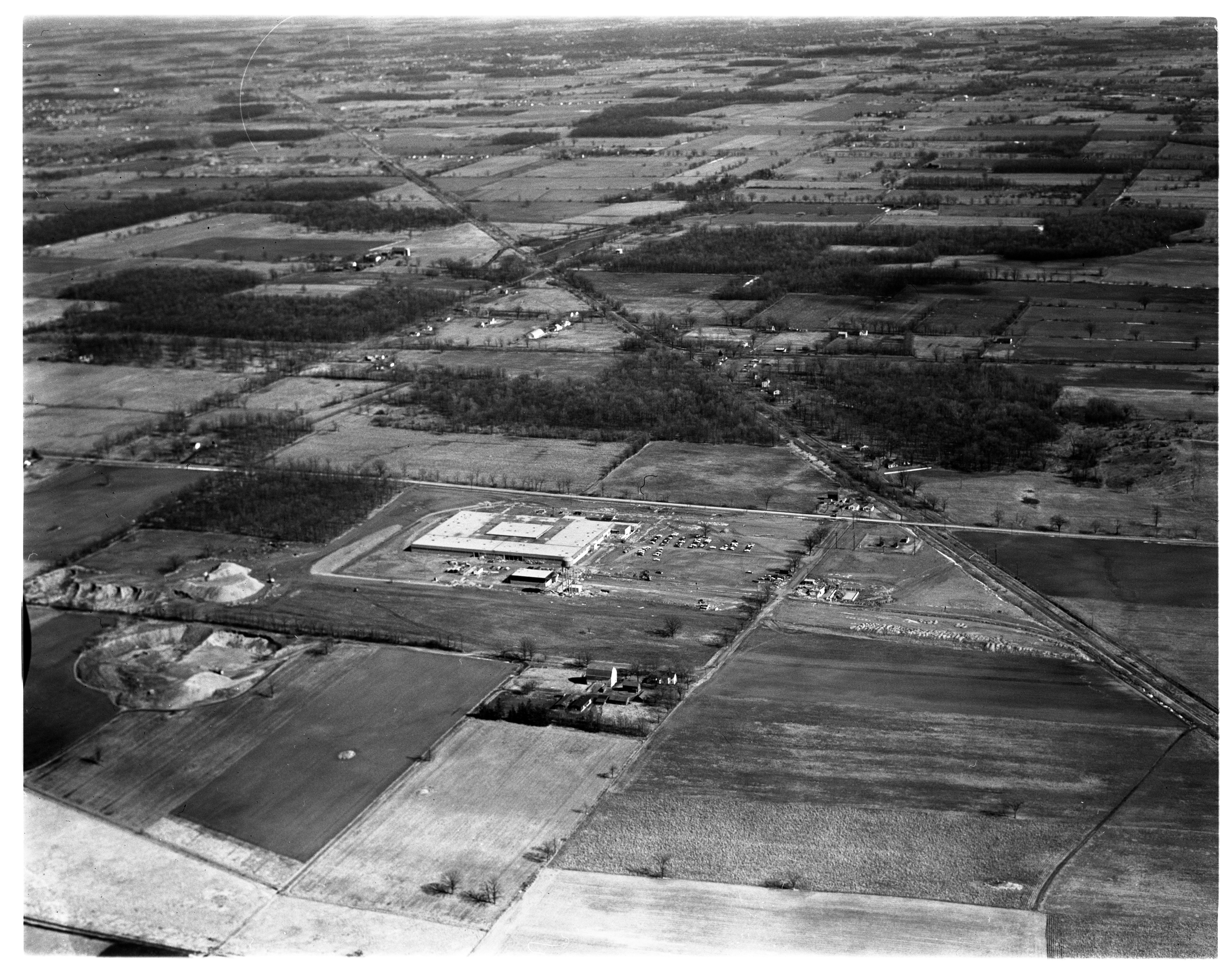 Aerial Photograph of the New Hoover Ball & Bearing Co. Plant, March 1958 image