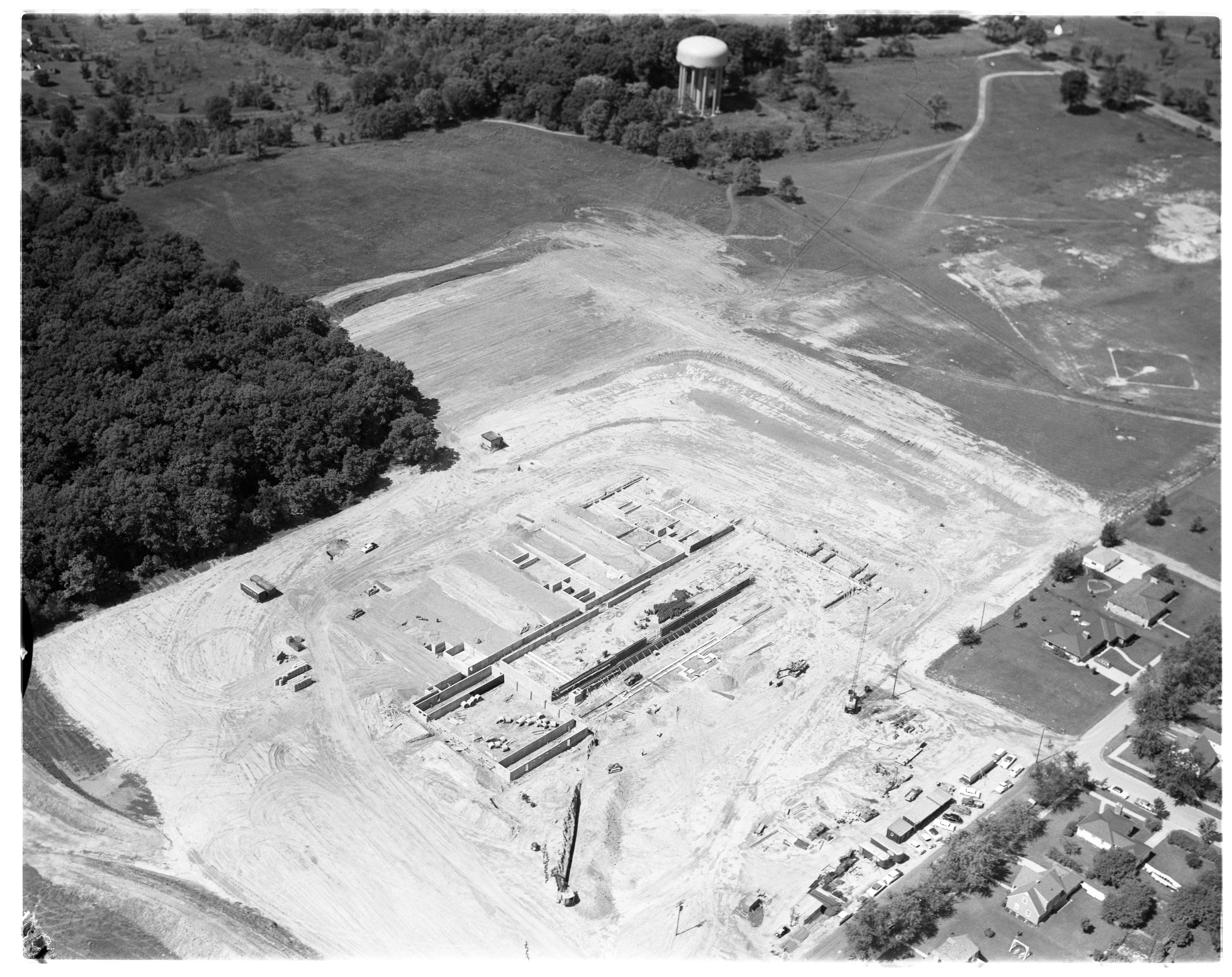 Aerial Photograph of New Ypsilanti Township Junior High School Building, September 1958 image