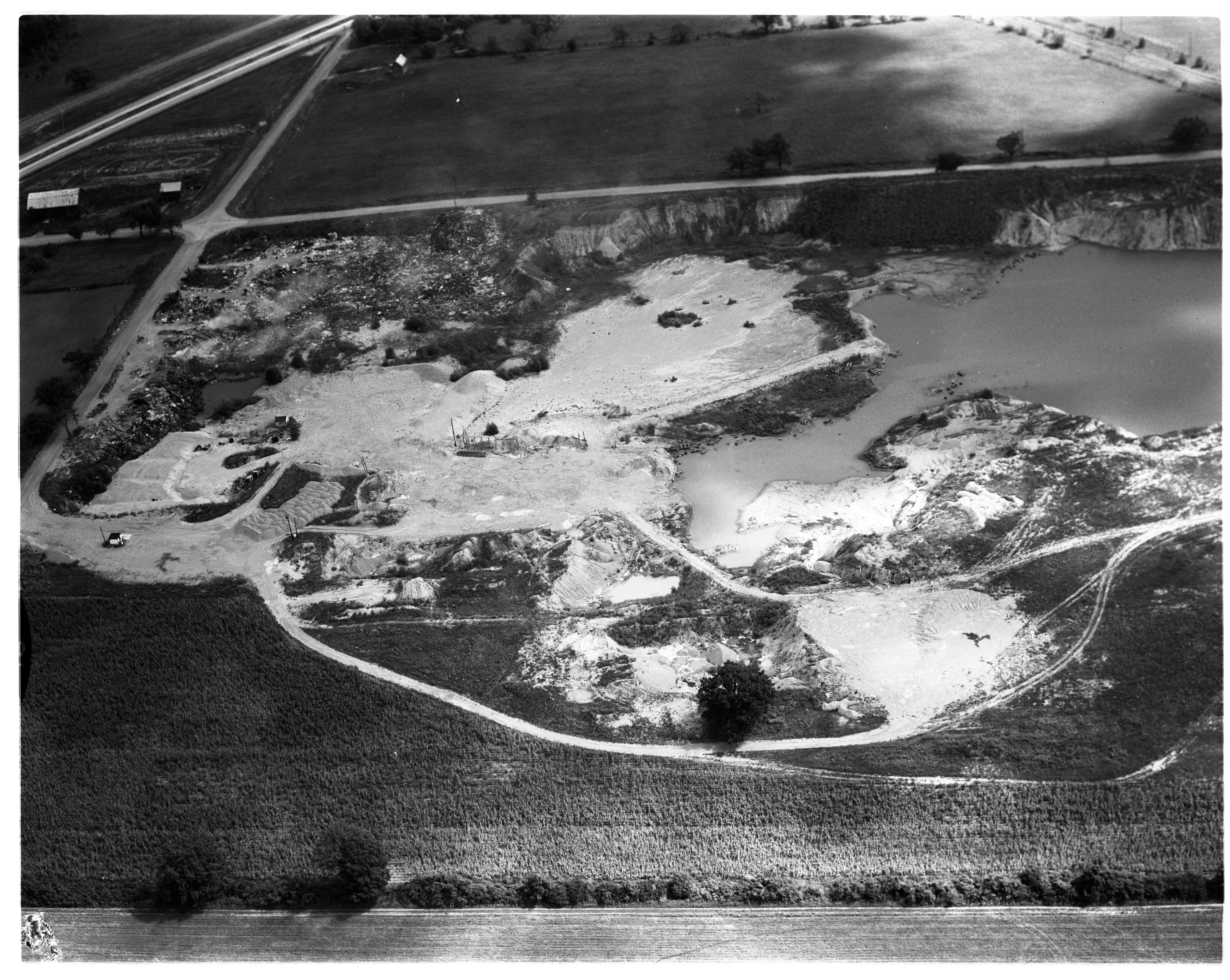 Aerial Photograph of Proposed Landfill, Pittsfield Township, September 1958 image