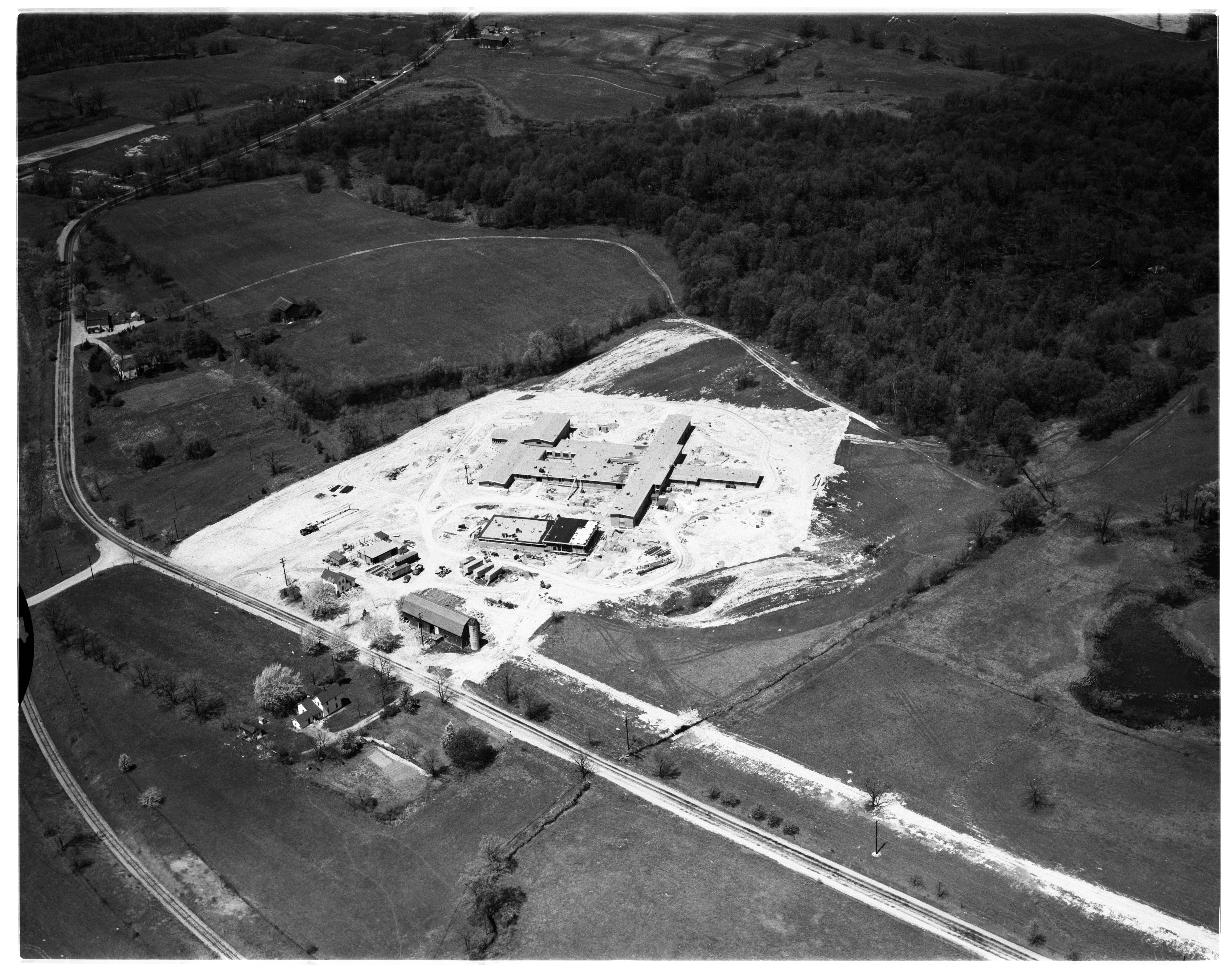 Aerial Photograph of the new Boys Vocational School, Livingston County, May 1959 image