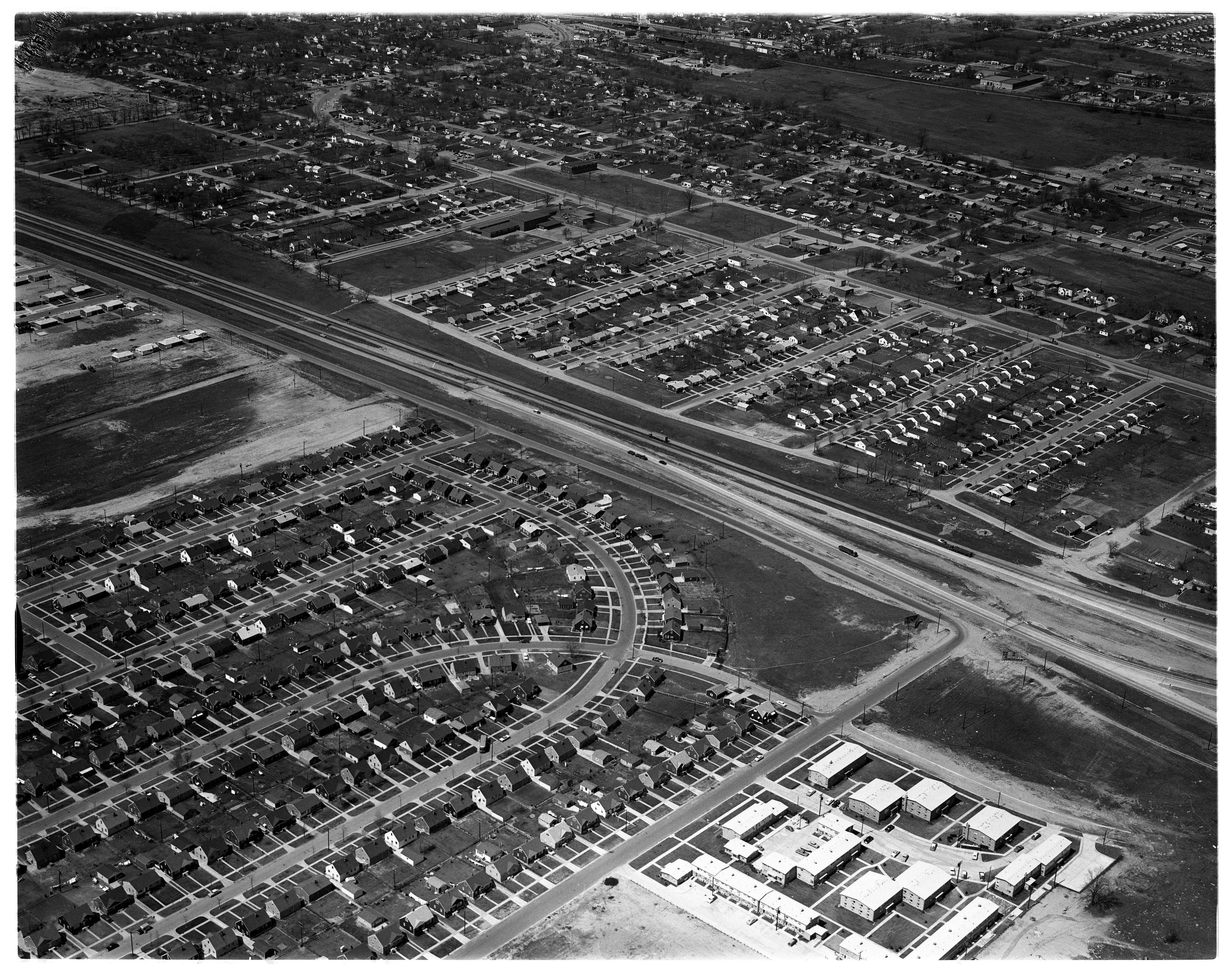 Aerial Photograph of the Proposed US 12 Overpasses, Ypsilanti Township, May 1959 image