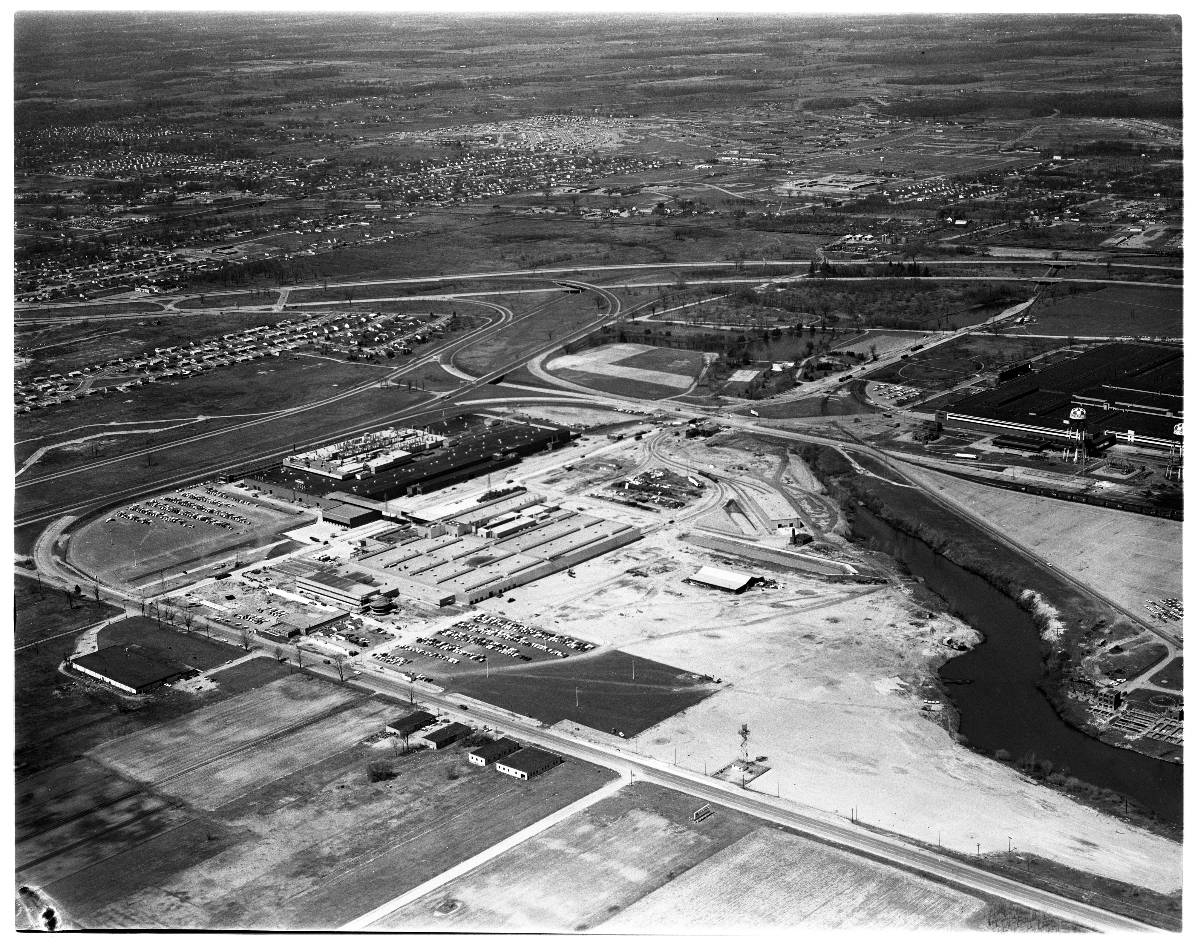 Aerial Photograph of New General Motors Co. Plant at Willow Run, April 1959 image