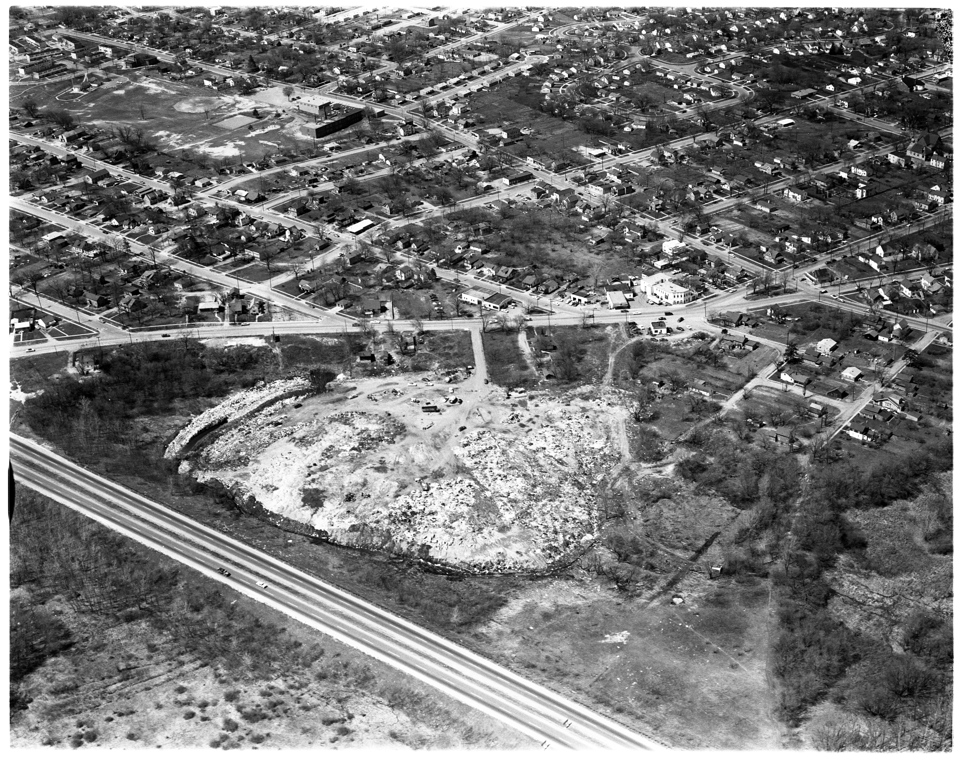 Aerial Photograph of Ypsilanti City Dump, June 1959 image