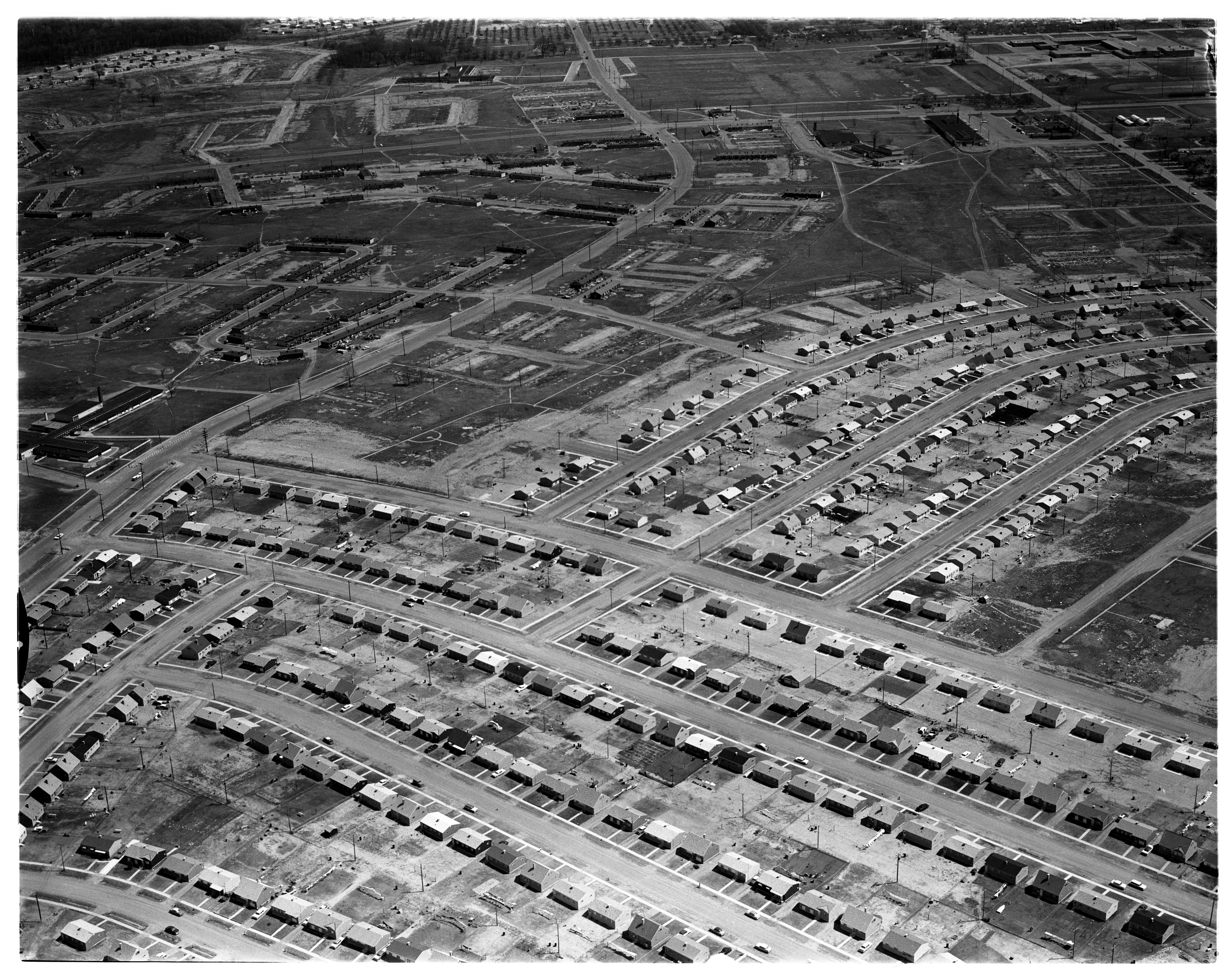 Aerial Photograph of Willow Village, Ypsilanti and Superior Townships, May 1959 image