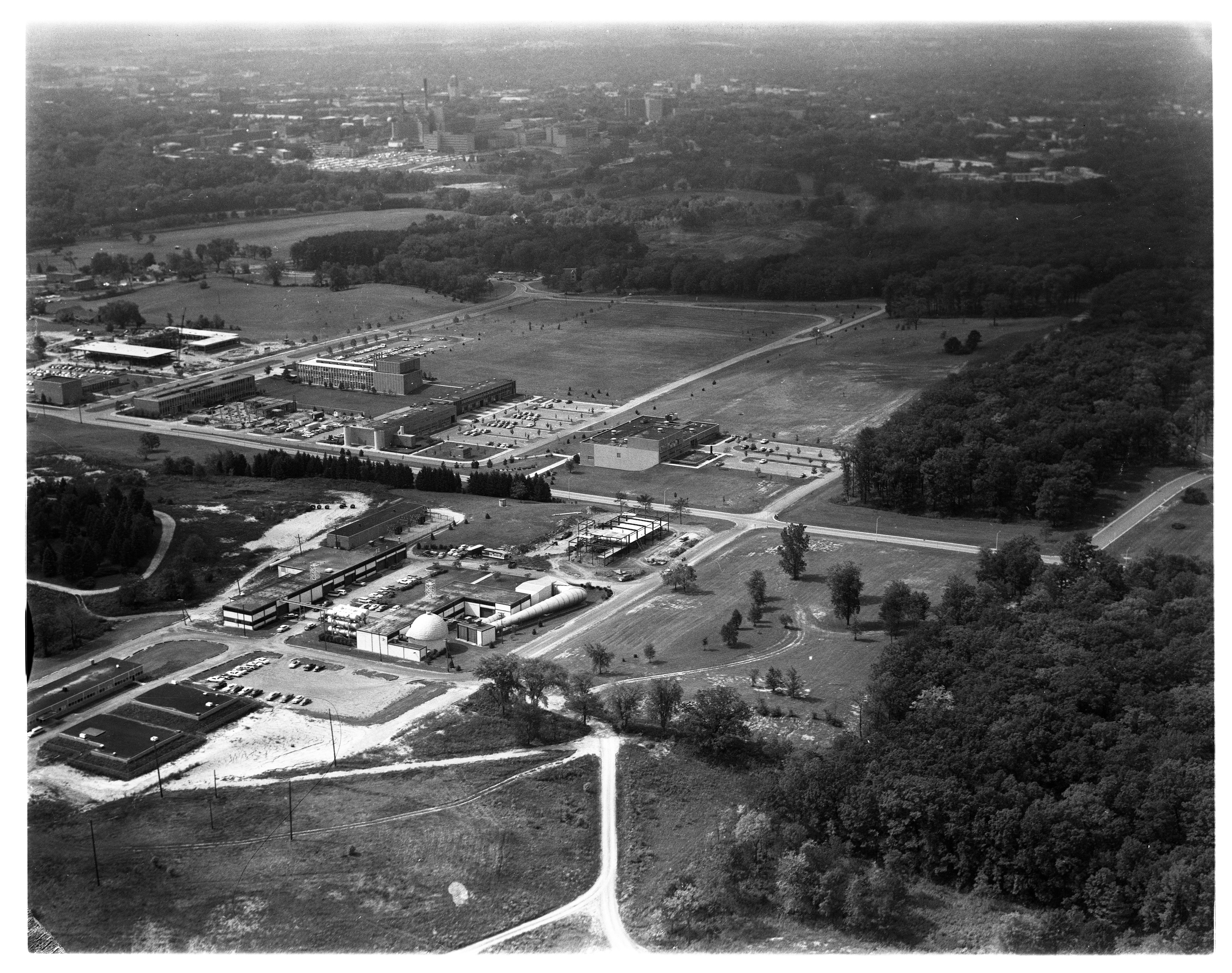 Aerial View of the University of Michigan's North Campus, September 1962 image