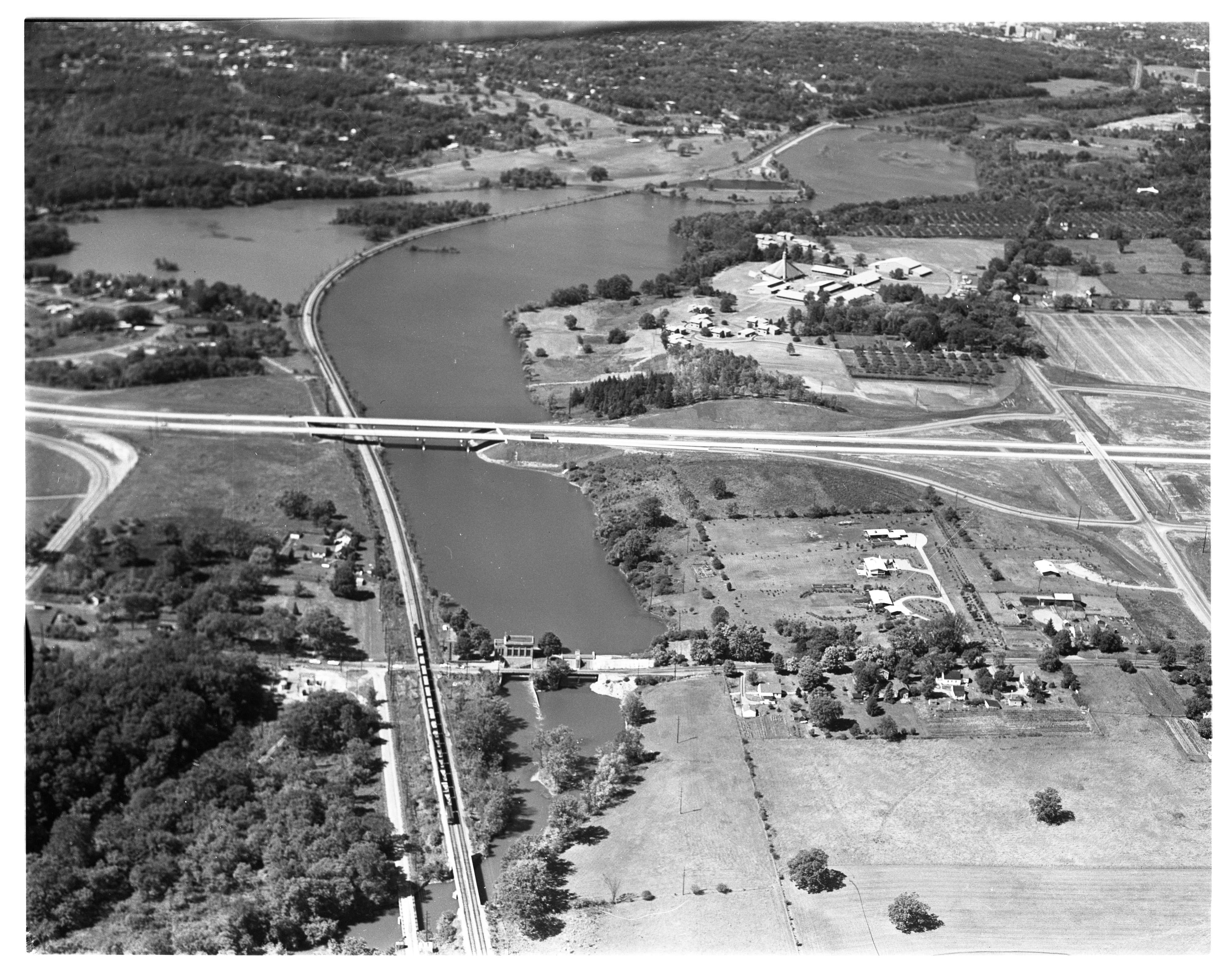 Aerial View of Geddes Pond and Concordia College, September 1963 image