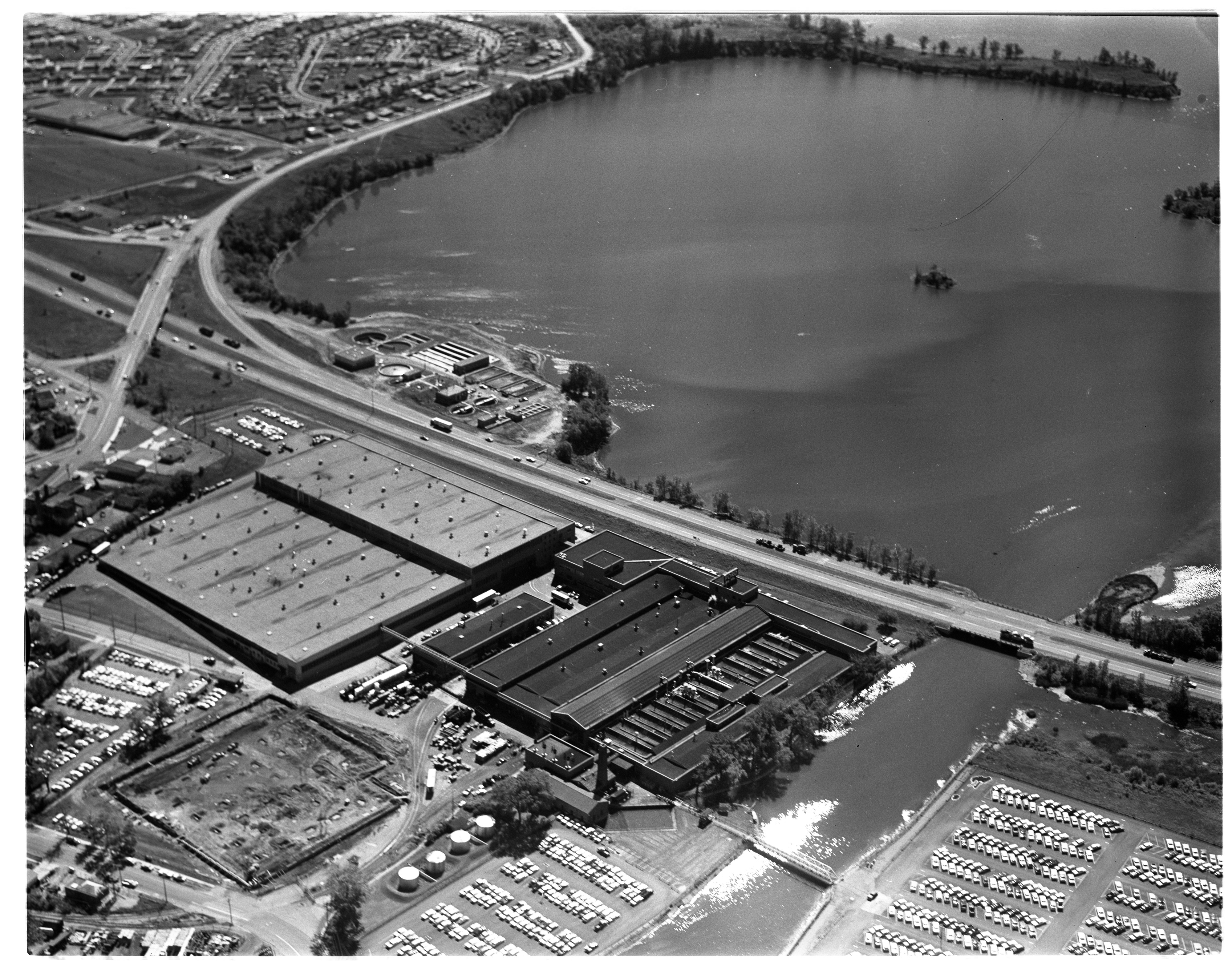 Aerial Photograph of Ford Motor Company's Ypsilanti Plant, September 1963 image