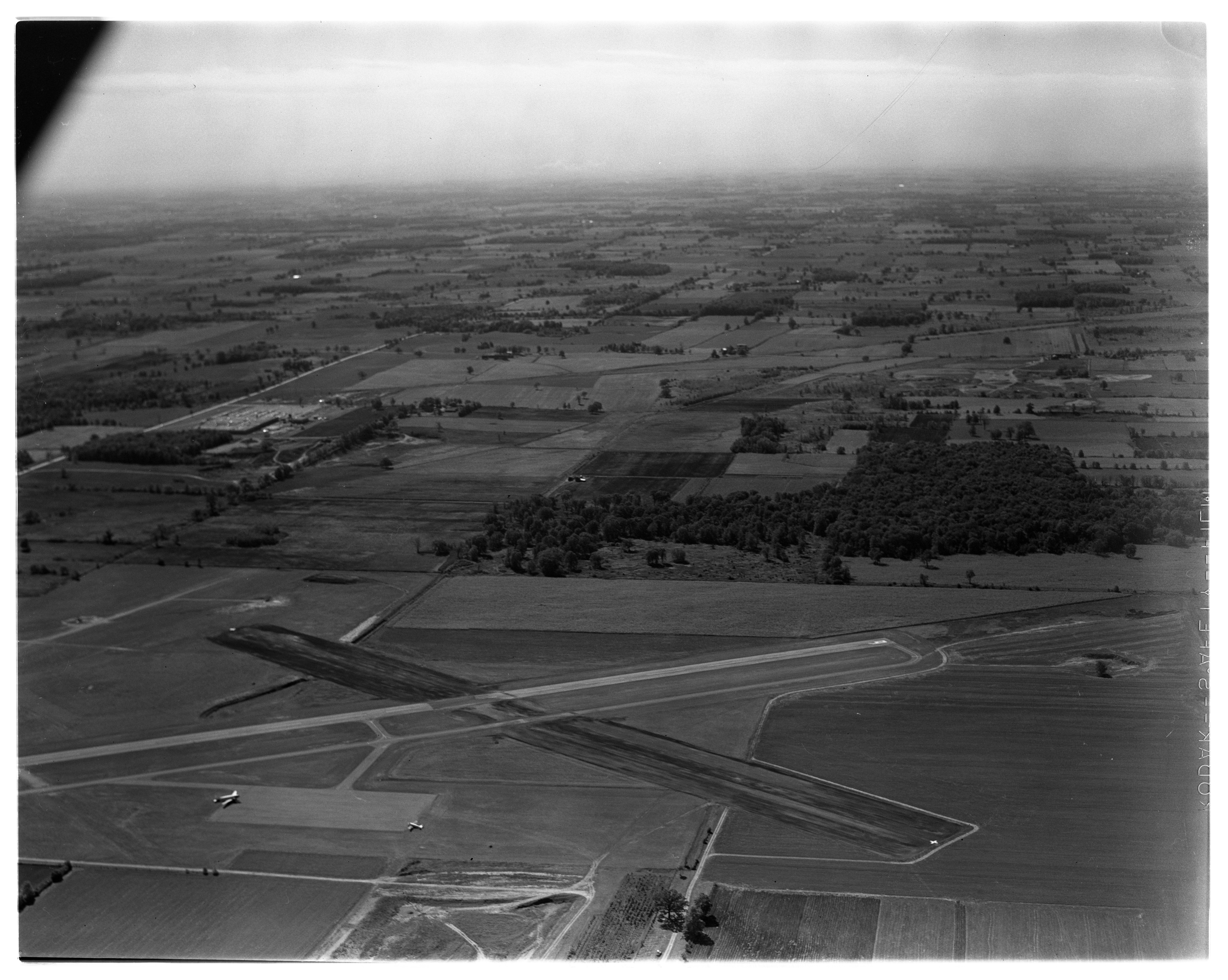 Aerial Photograph of the Ann Arbor Airport, September 1963 image