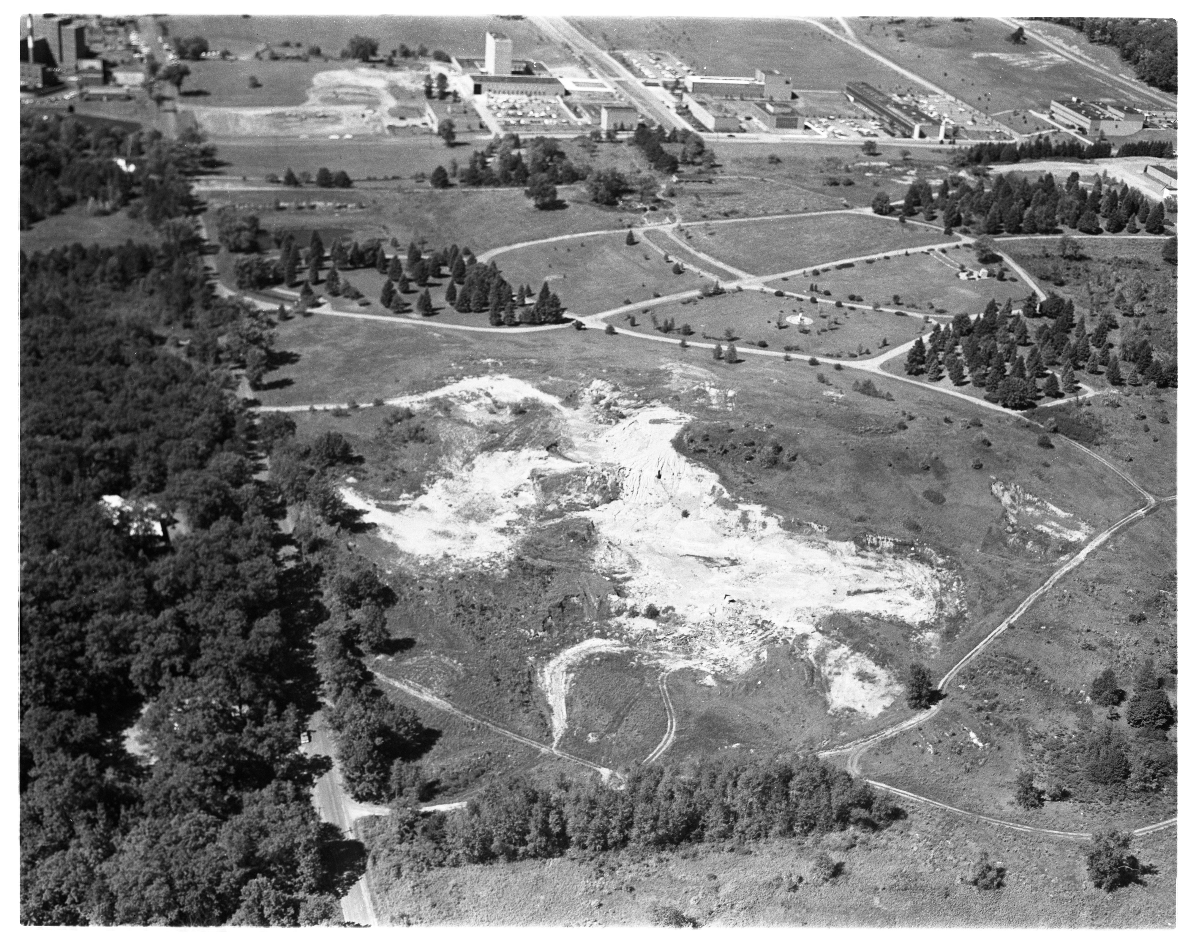 Aerial Photograph of Arborcrest Cemetery, September 1963 image