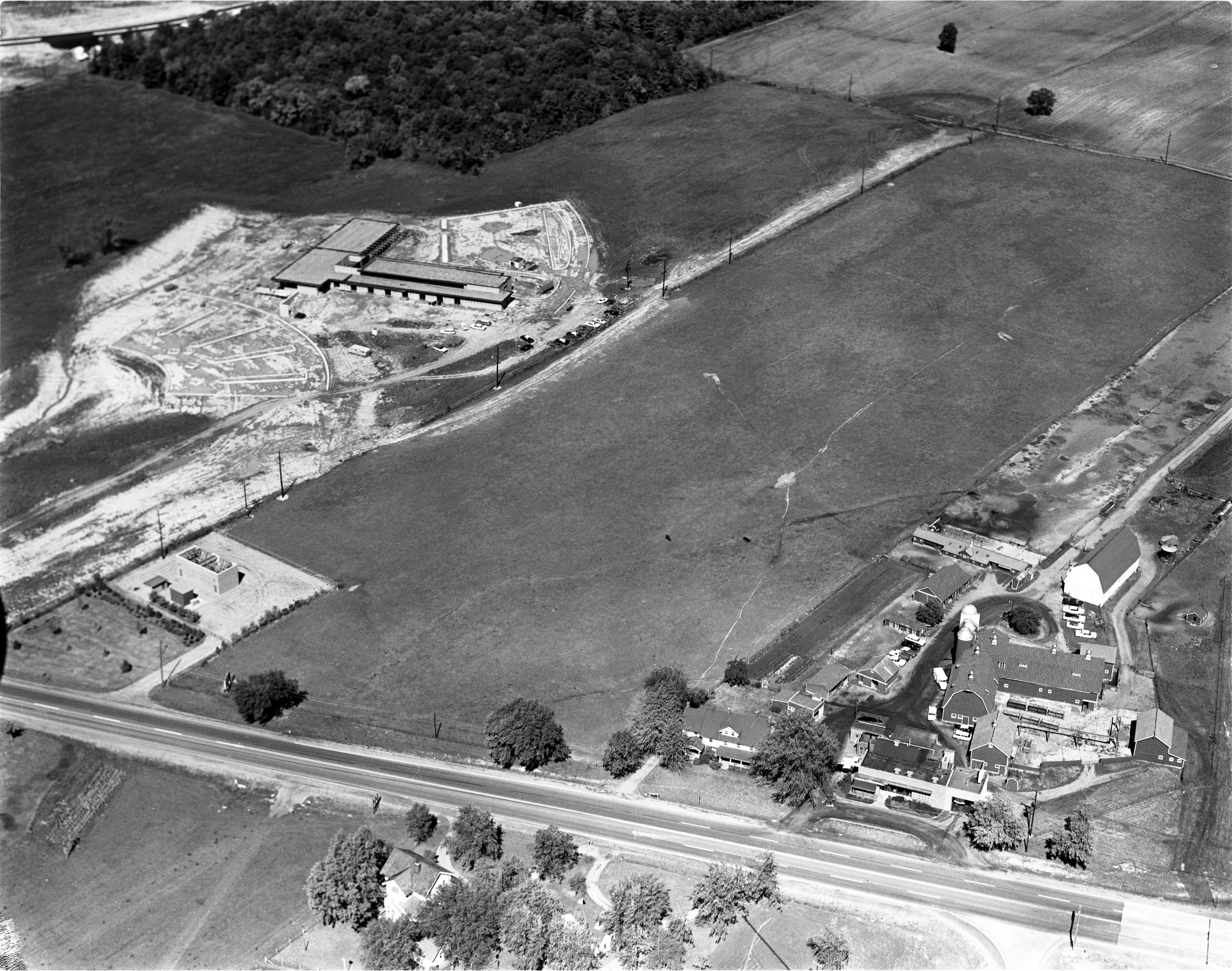 Aerial View Of Bolgos Farms & The Conductron Corporation, September 26, 1963 image
