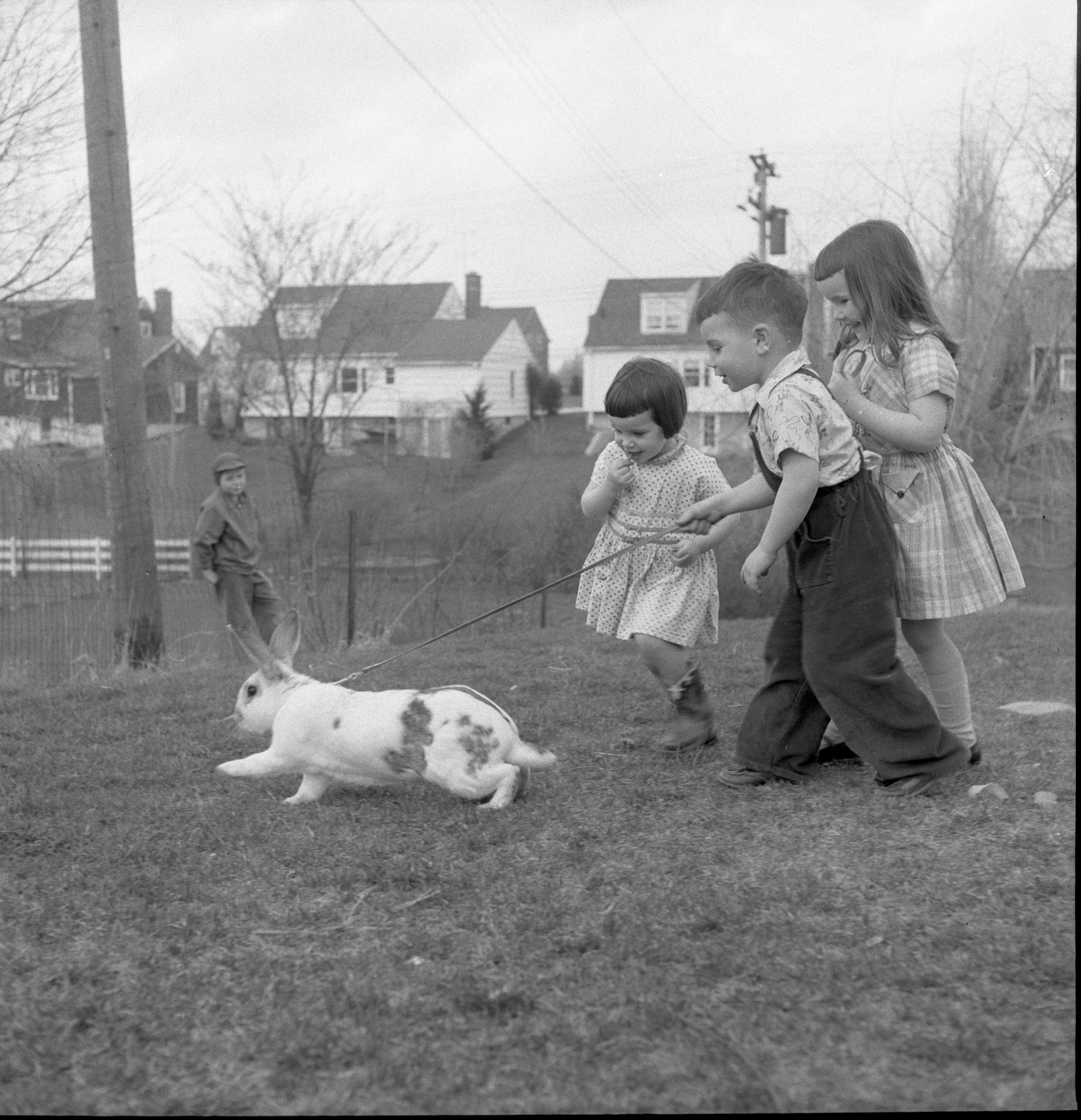 Image from Clark Children With Peter Rabbit, April 1957