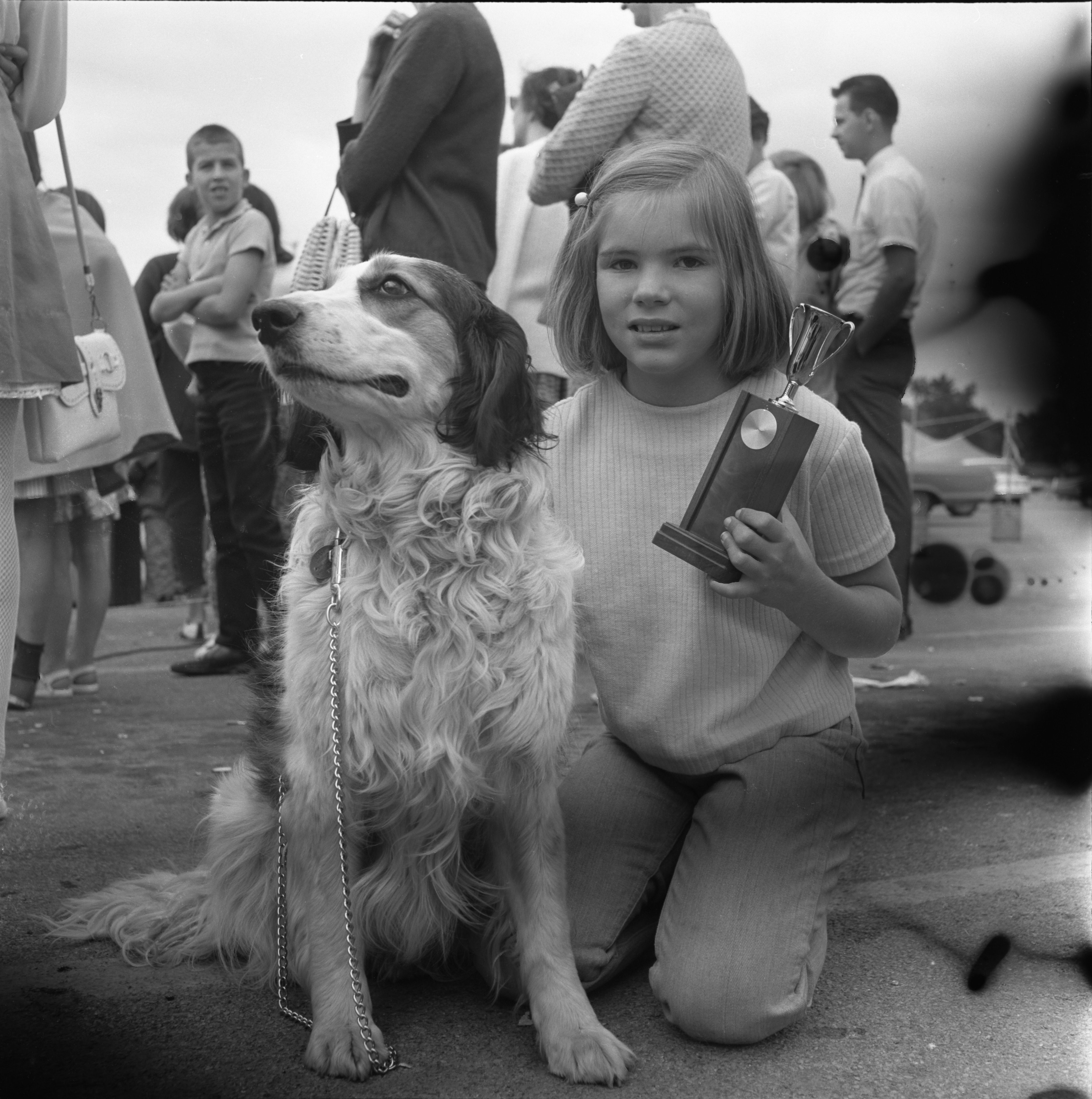 Wendy Walters & Her Dog, Duchess, Winners At Westgate Shopping Center's Pet Circus, July 17, 1967 image