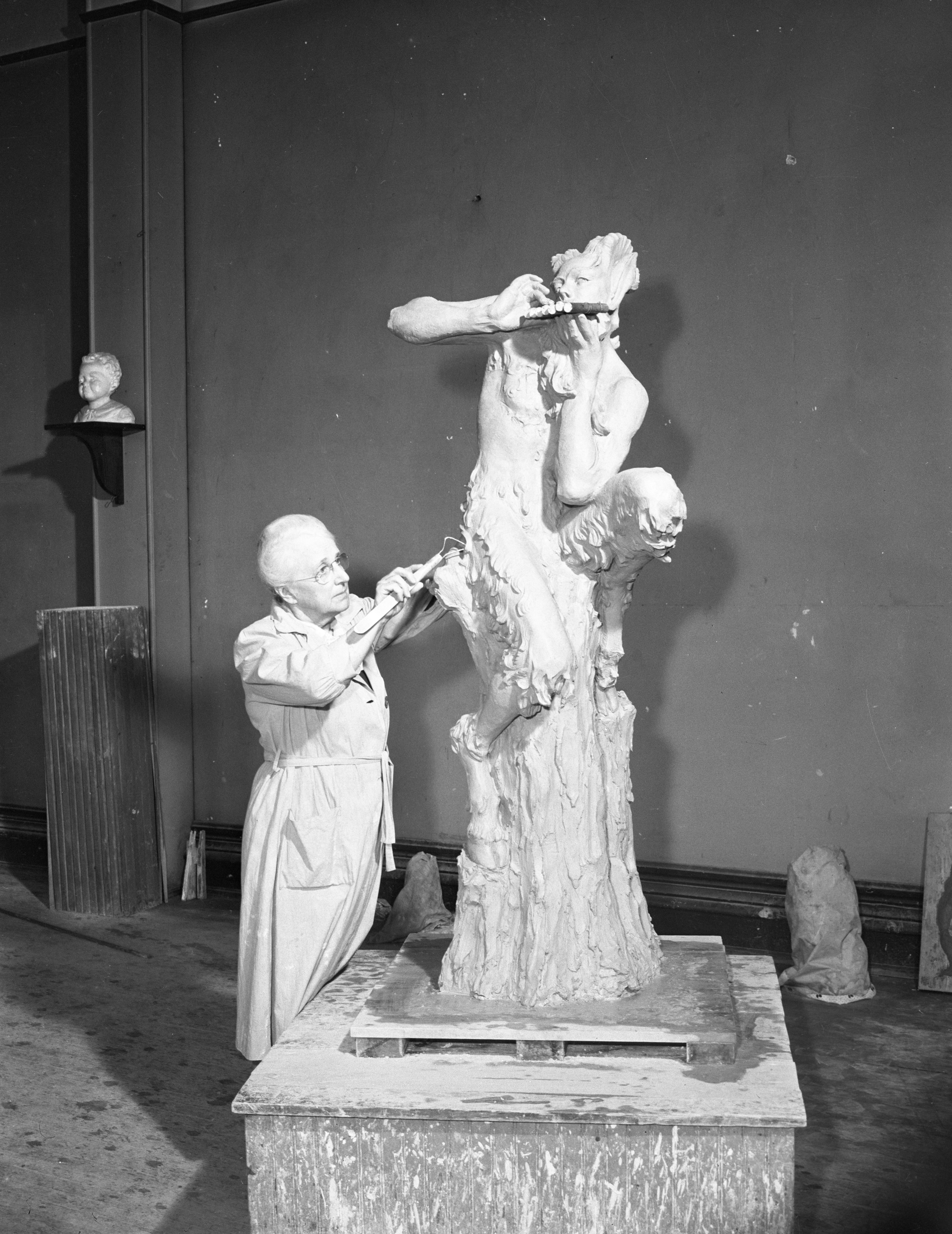 Agnes McLean's Sculpture of Pan, 1944 image