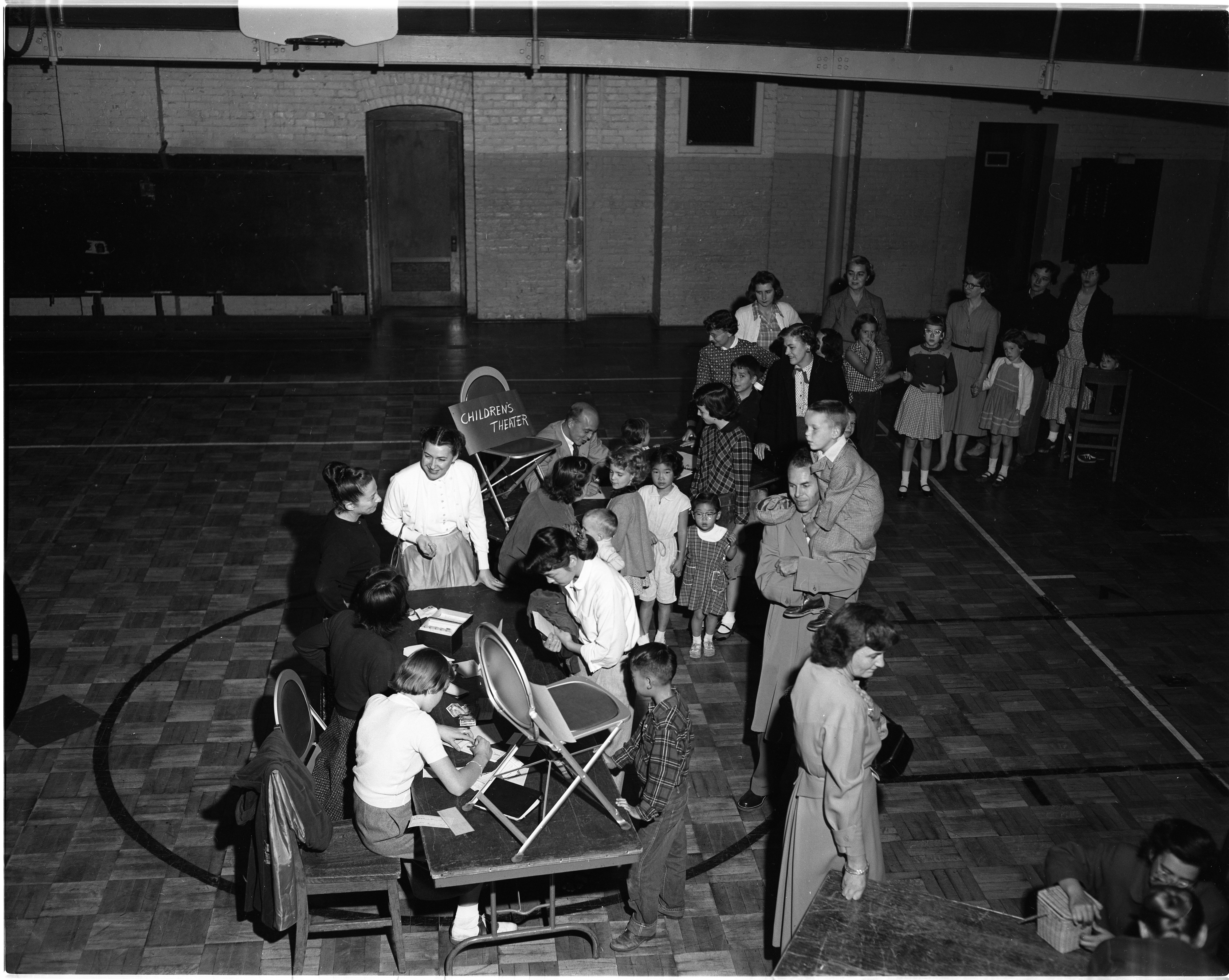 Registration For Childrens Art Class At Ann Arbor High School, September 1954 image