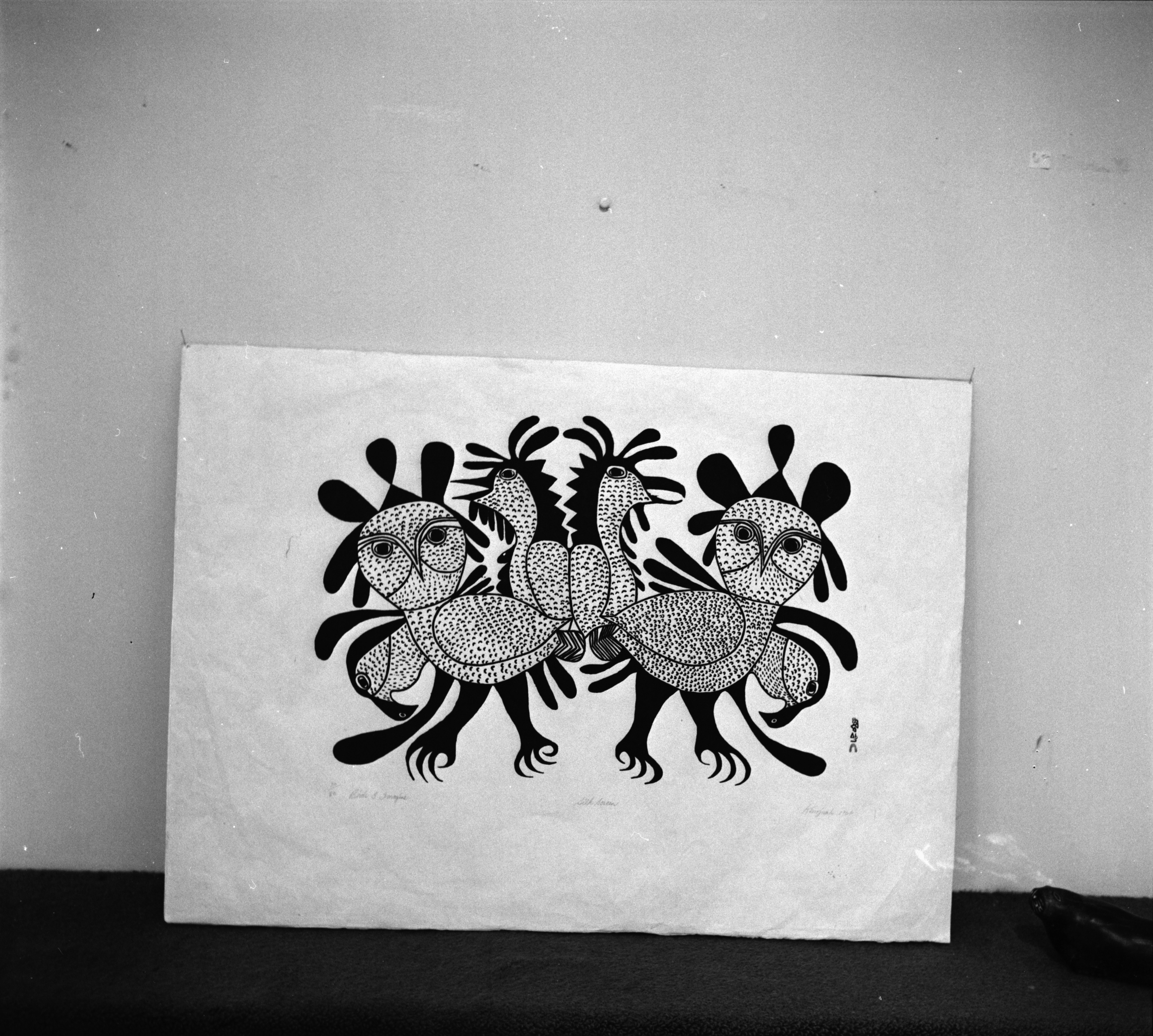 Photograph of Kenojuak Ashevak Print, 'Birds I Imagine', March 1967 image