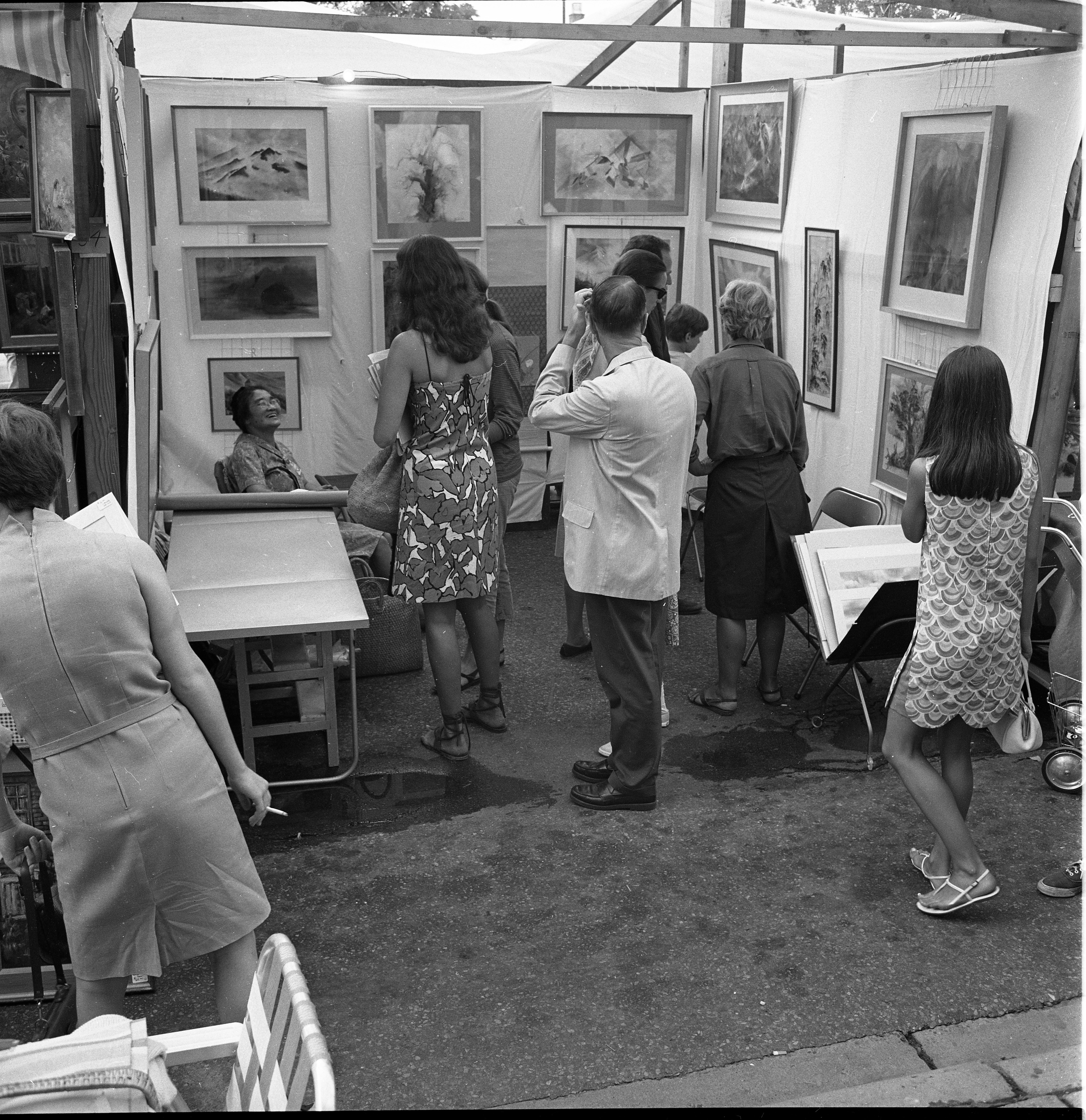 Artist, Hanako Yamagiwa At Ann Arbor's Street Art Fair, July 20, 1967 image
