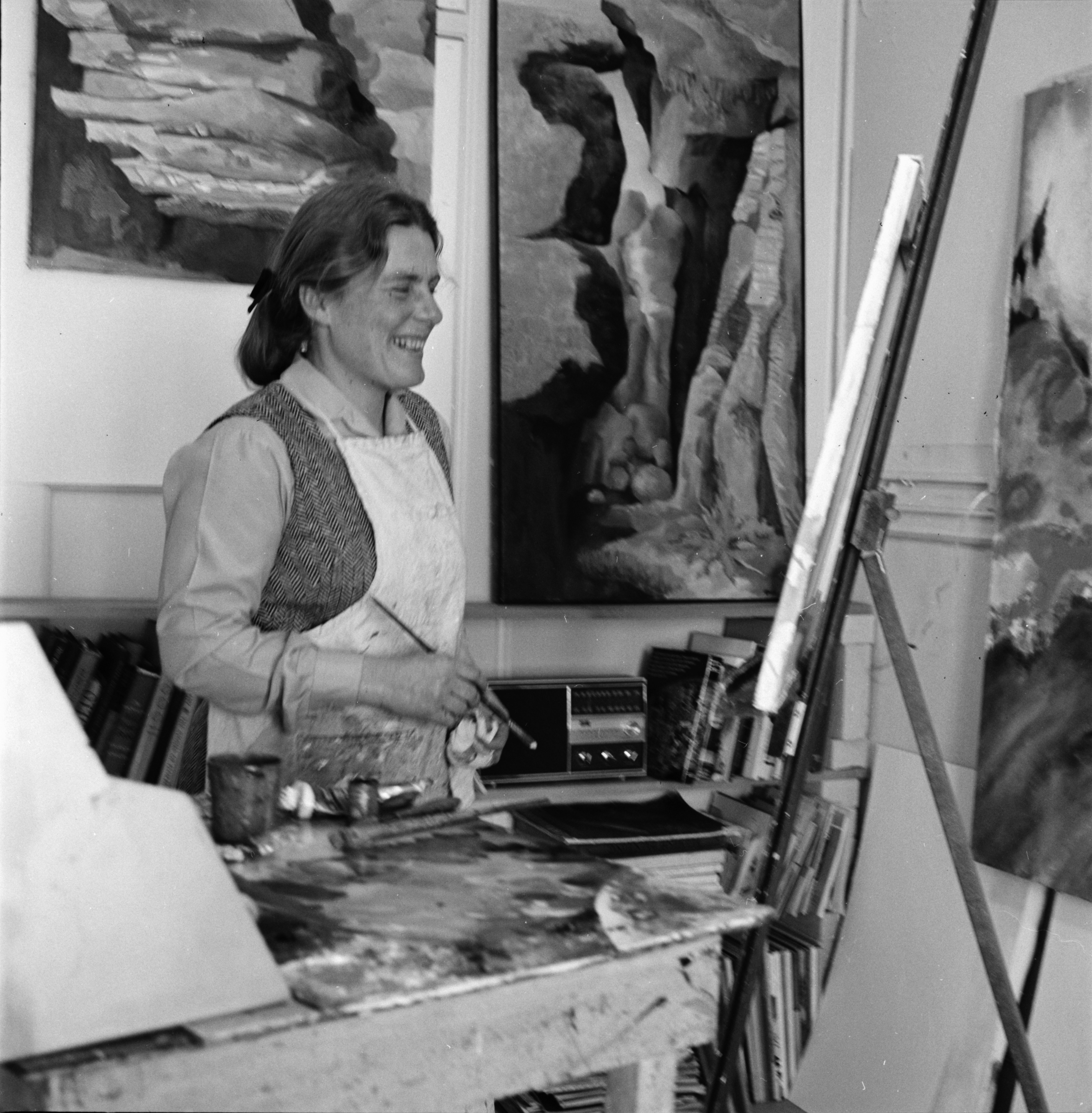 Artist Alice Crawford At Work, February 1969 image