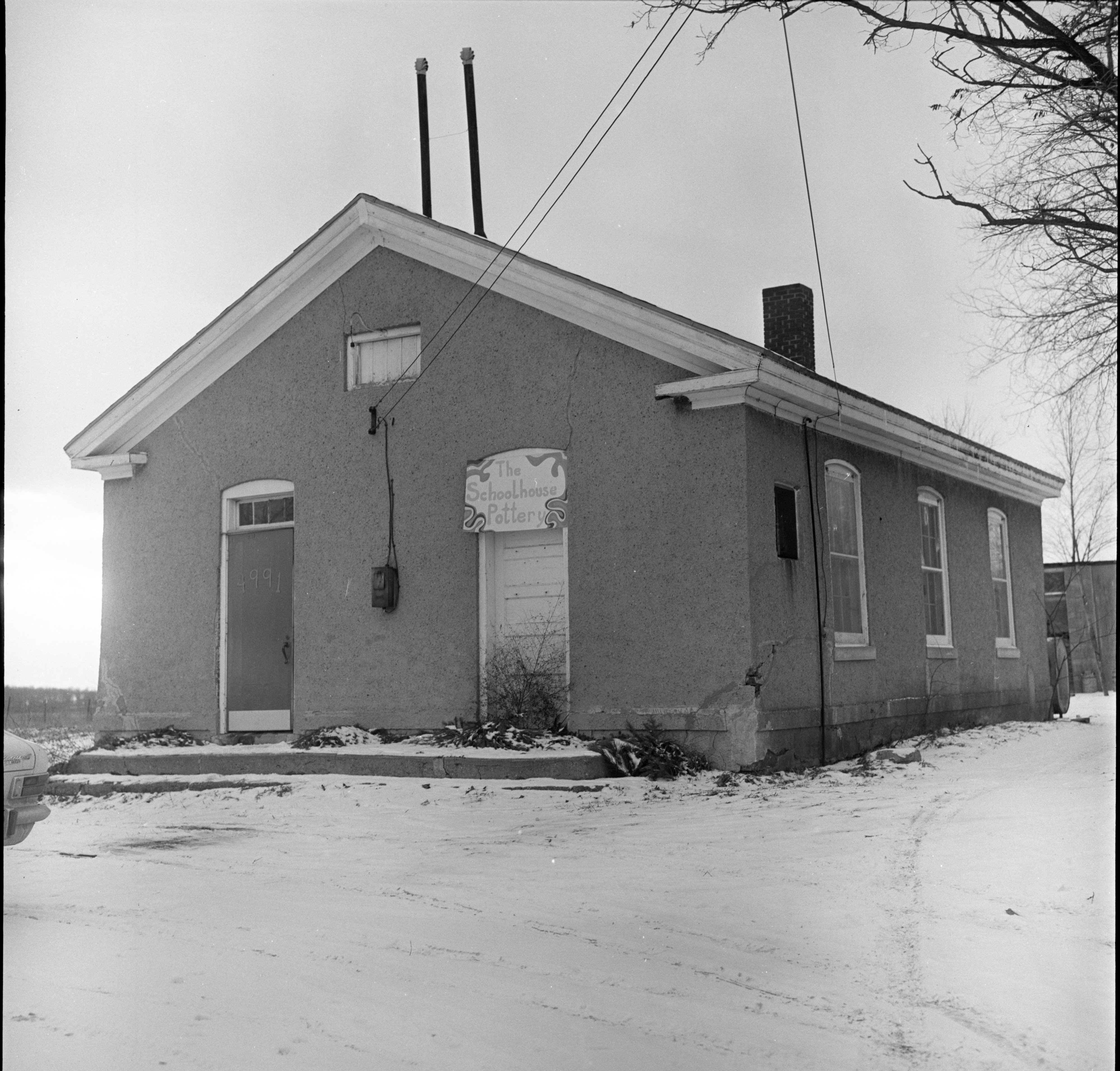 The Schoolhouse Pottery Studio In The Former Braun School, December 1969 image