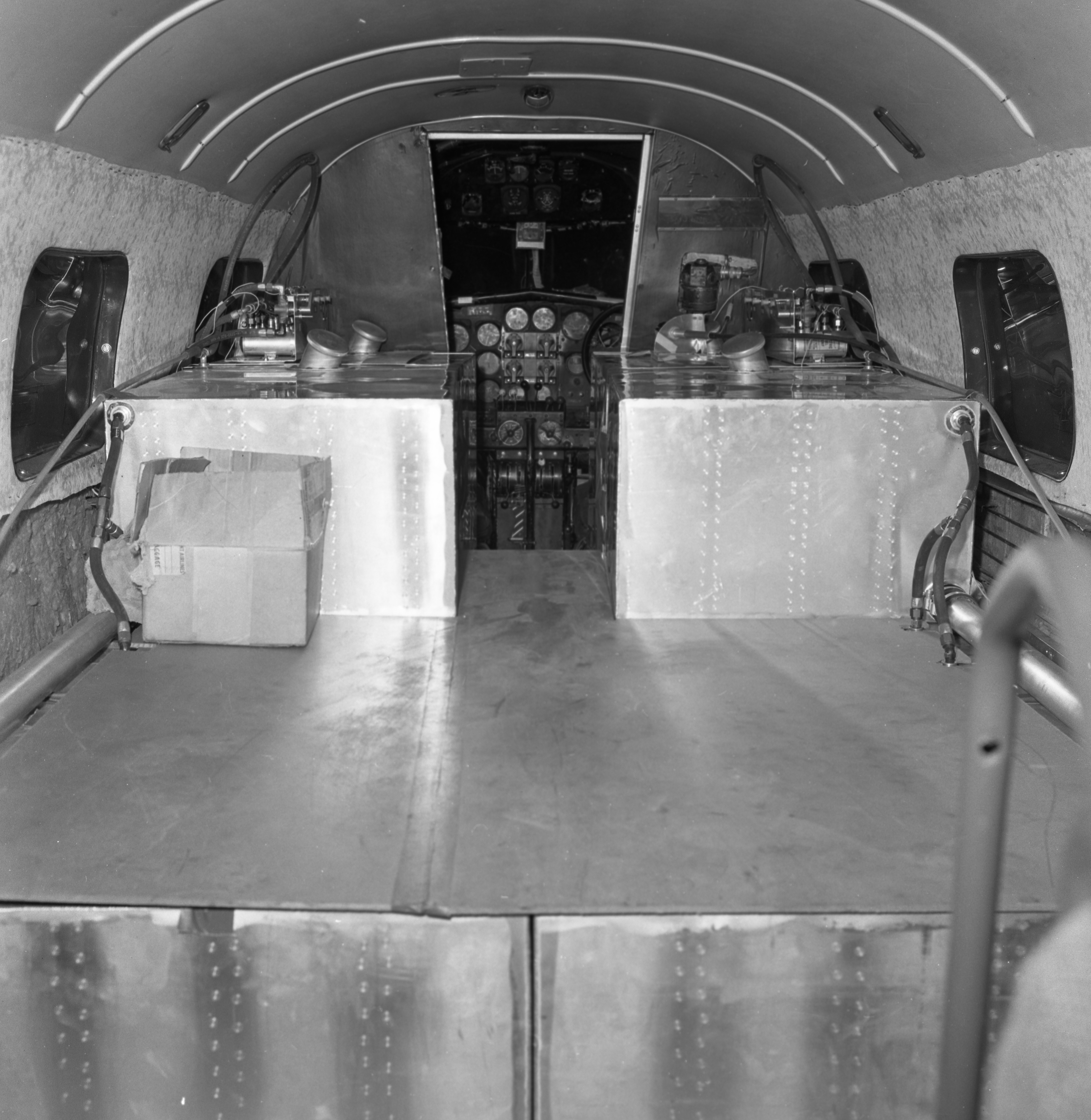 Interior of 1937-Vintage Plane for Amelia Earhart Commemorative Flight, May 1967 image