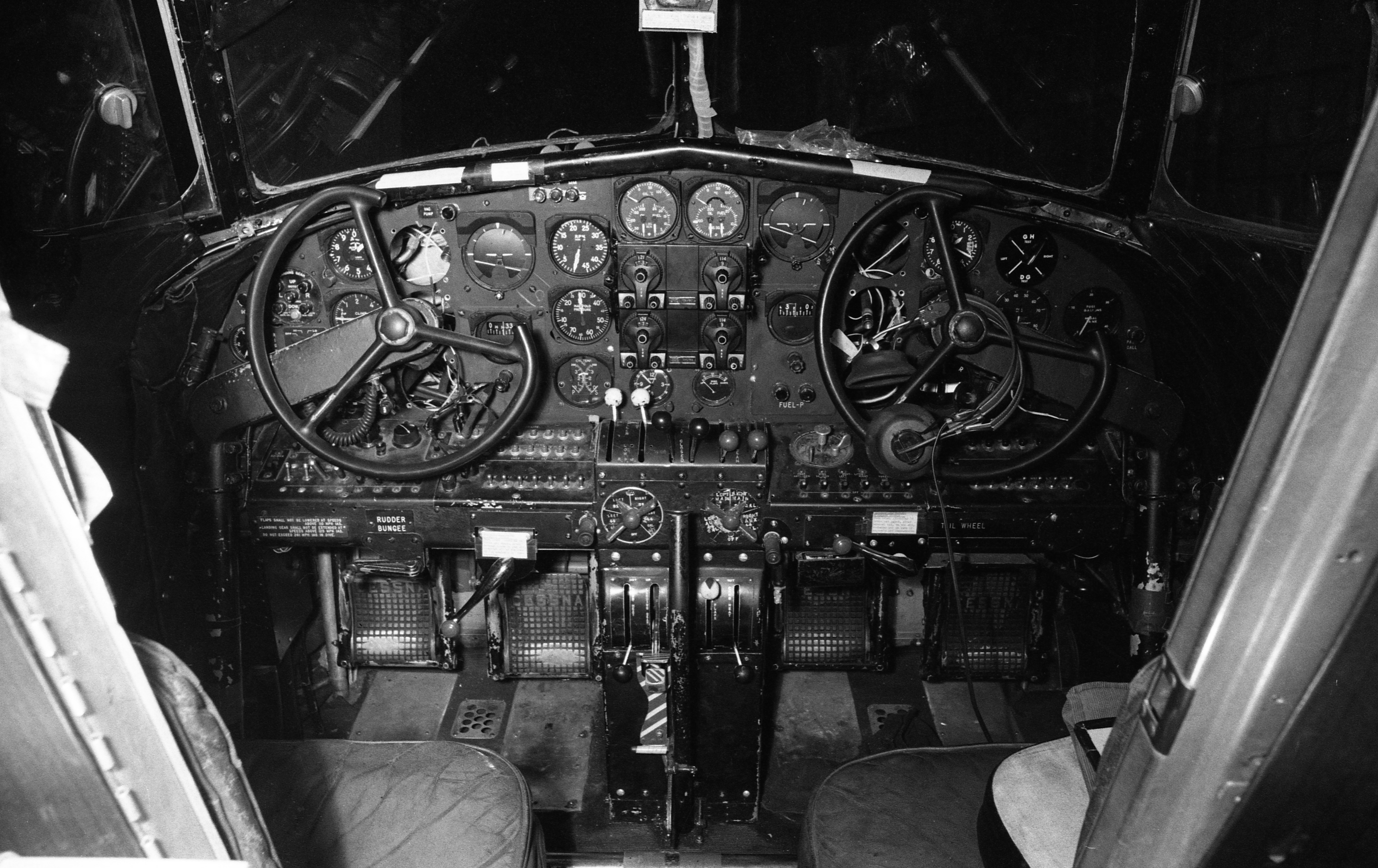Cockpit of 1937-Vintage Plane for Amelia Earhart Commemorative Flight, May 1967 image