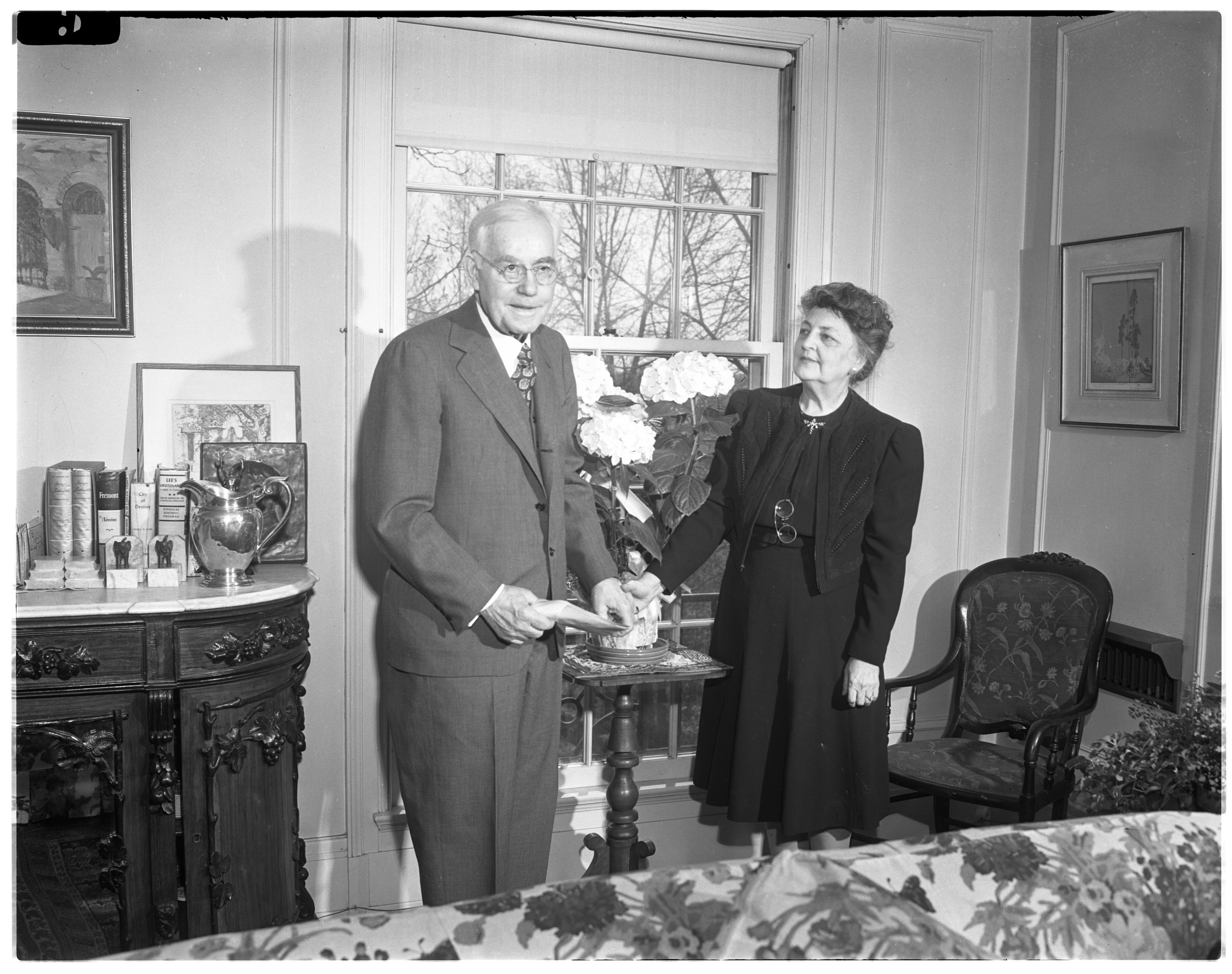 Mr. and Mrs. Fielding Harris Yost on his 75th Birthday - April 30, 1946 image