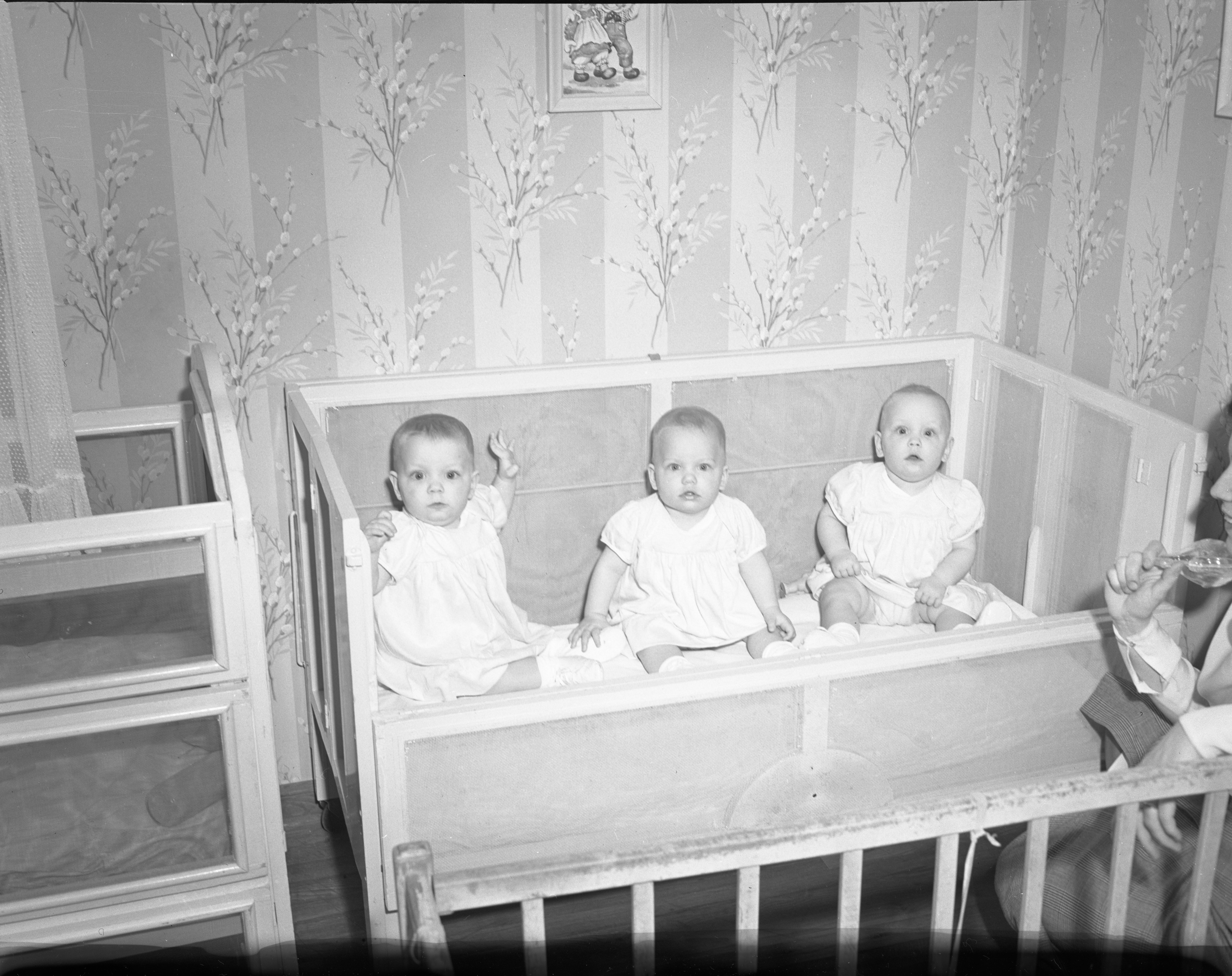 Handy Triplets - One Year Old, April 1949 image