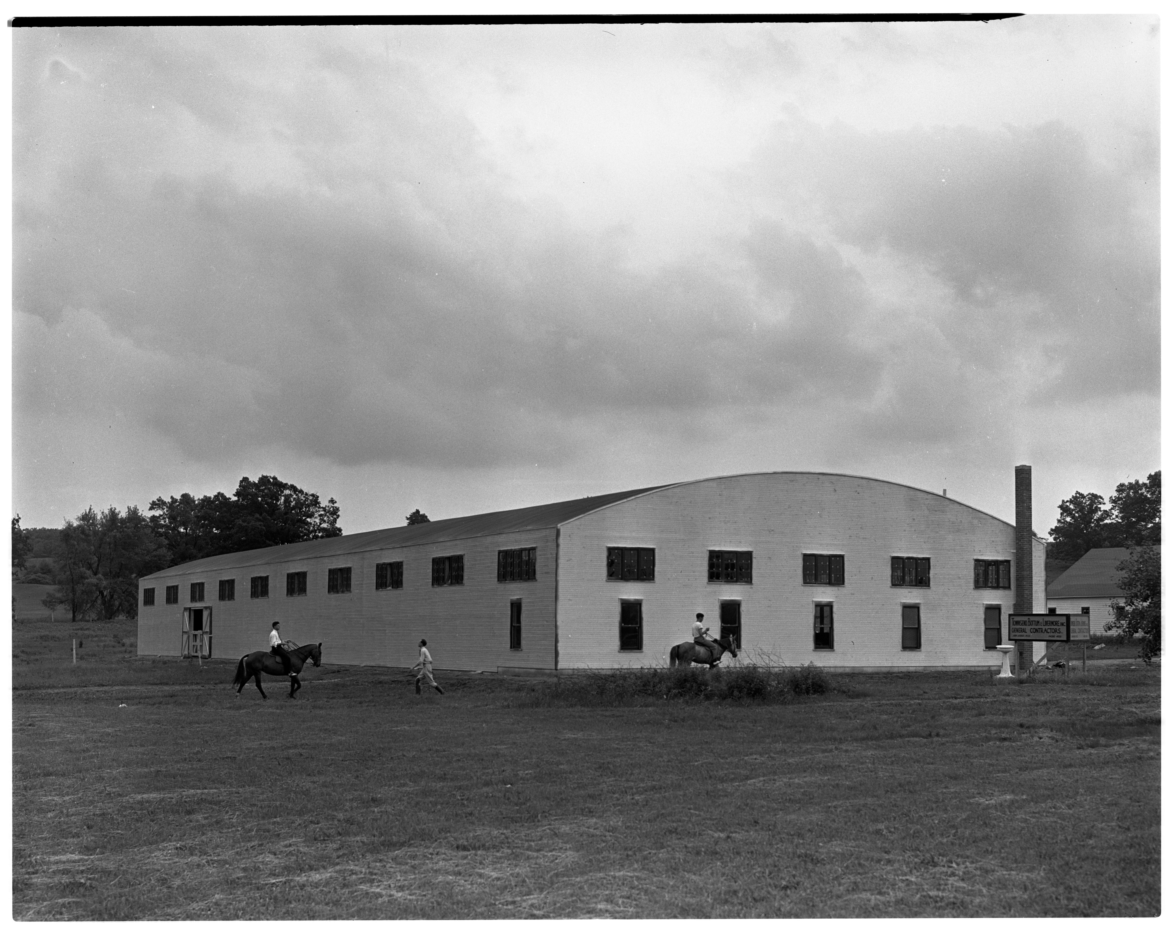 New Indoor Riding Arena At Golf Side Riding Academy, June 1939 image