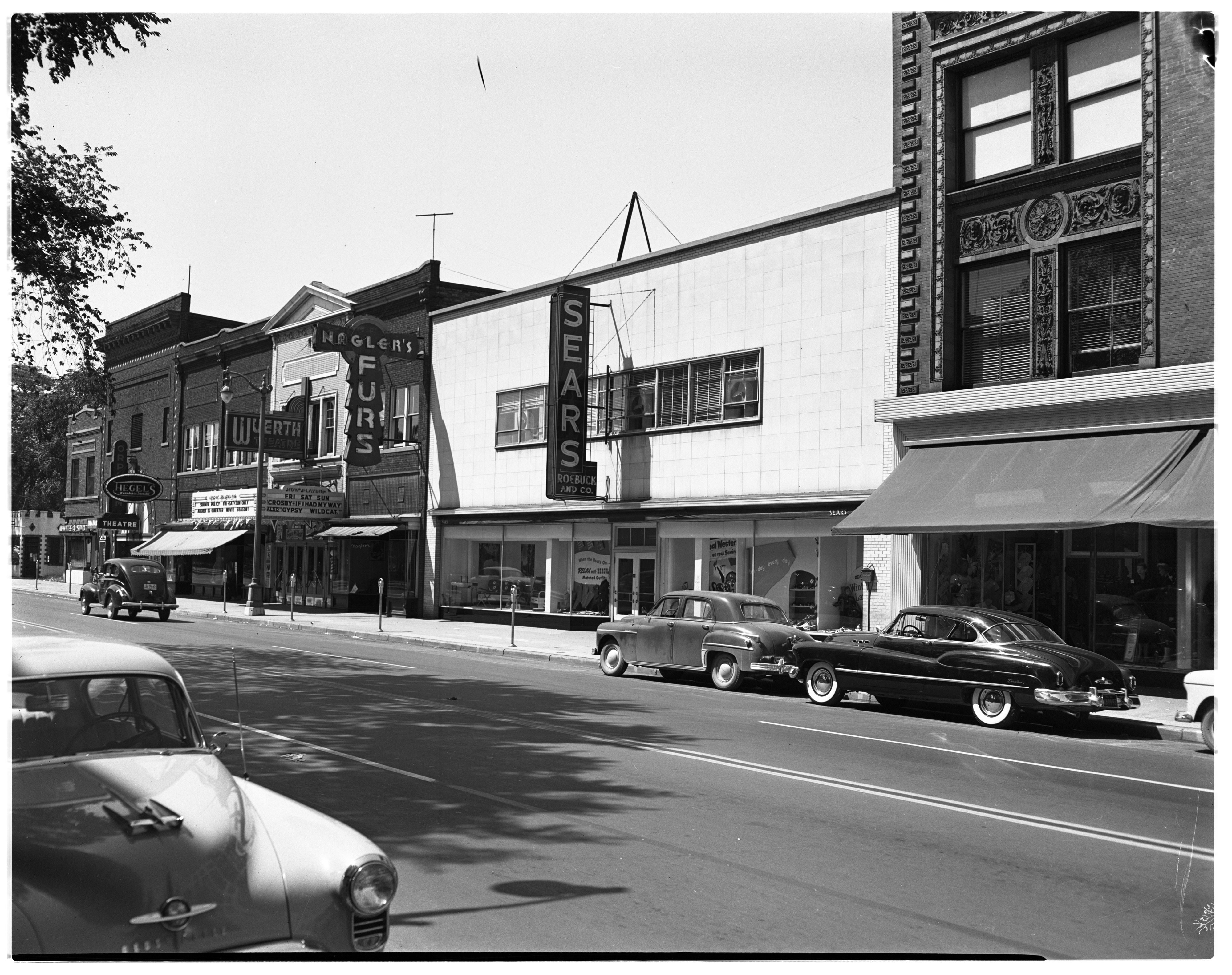 Sears Store, 300 Block, Main Street, August 1950 image