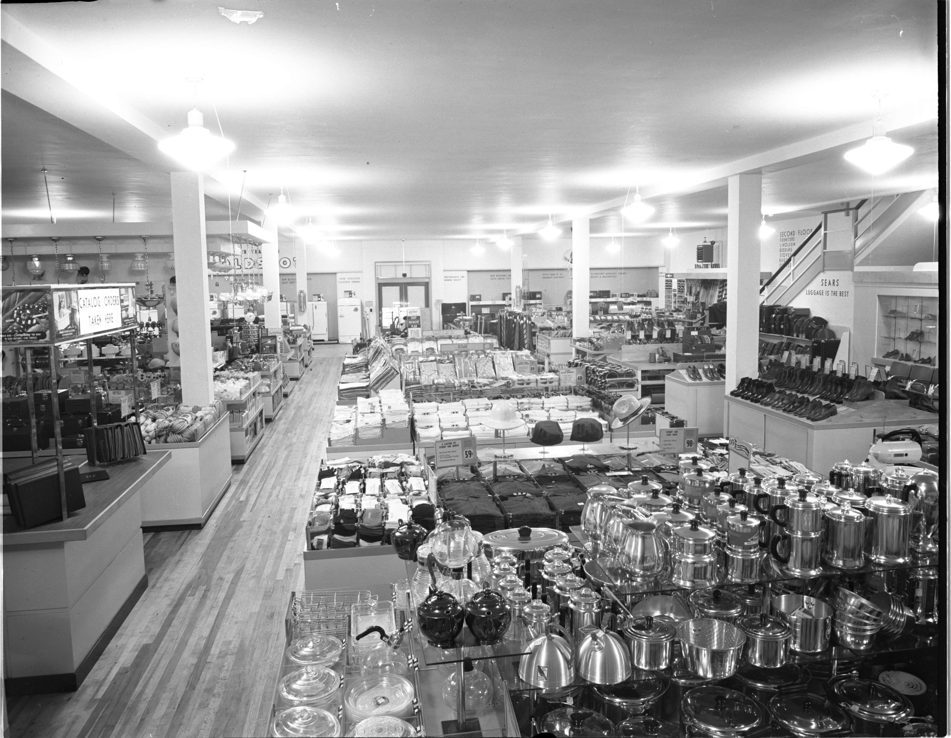 Interior Of New Sears Roebuck Store - 312 S. Main St., March 1941 image