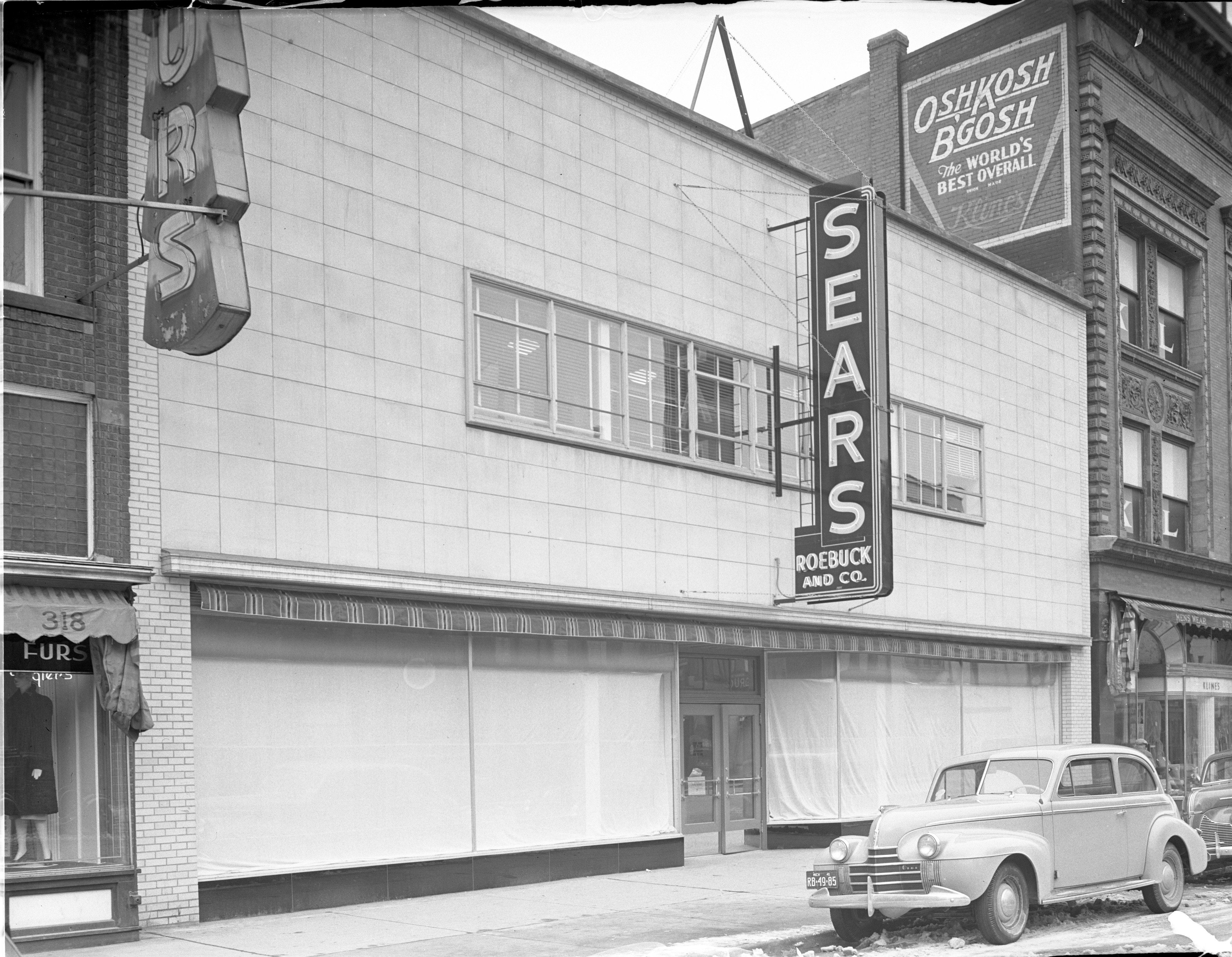 Exterior Of New Sears Roebuck Store - 312 S. Main St., March 1941 image