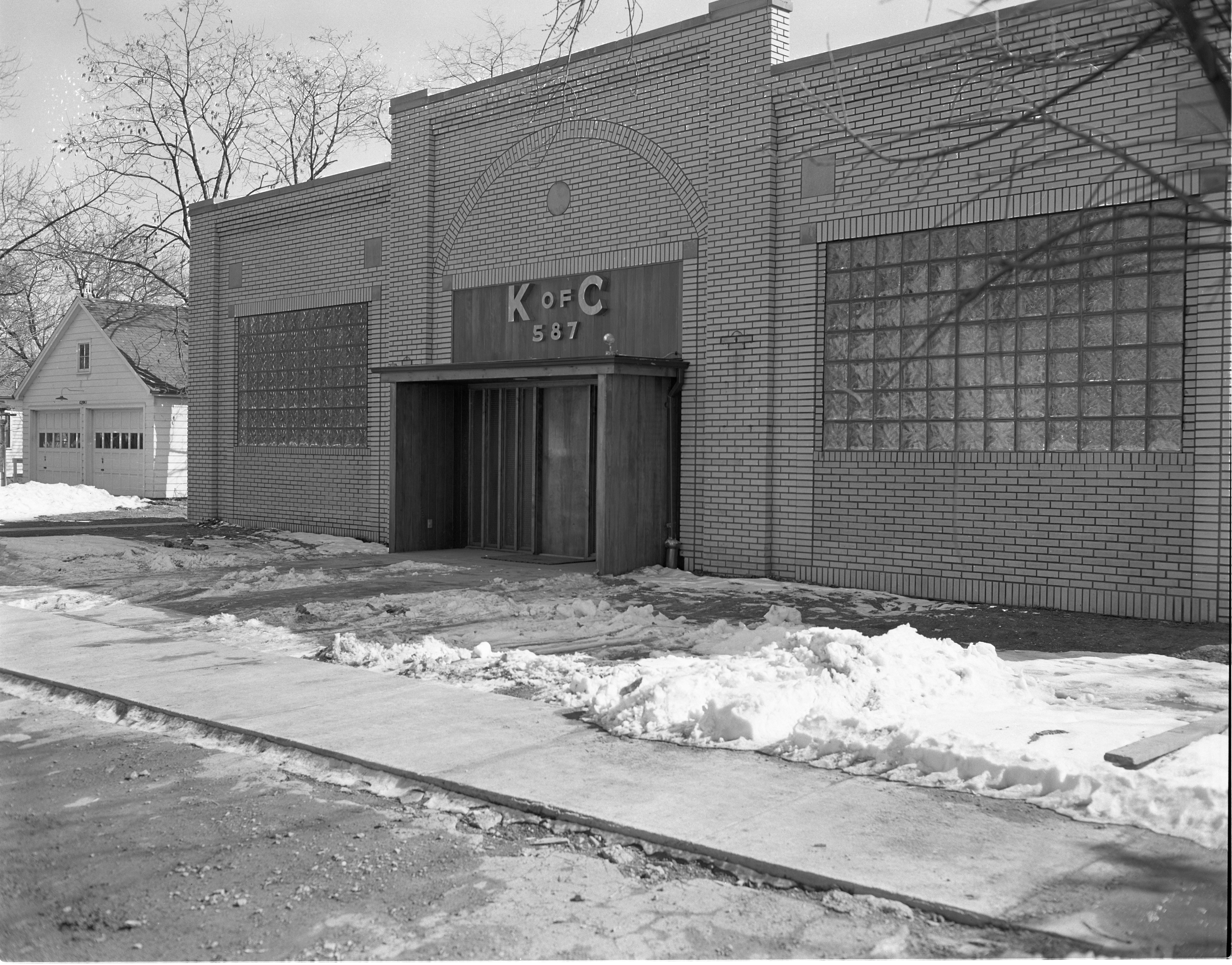 Knights Of Columbus Building - Exterior, March 1954 image